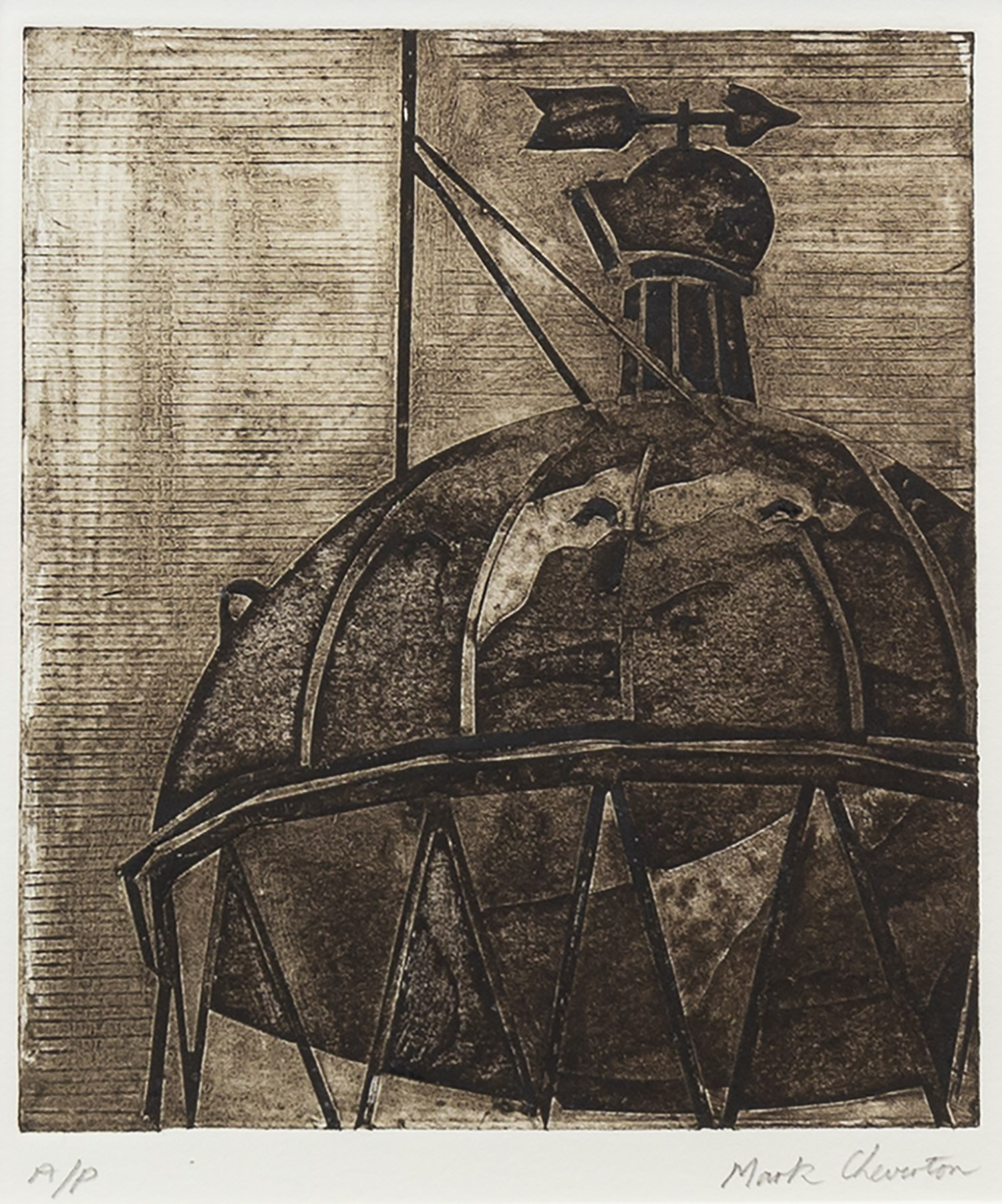 Lot 95 - MULL AND GALLOWAY LIGHTHOUSE, AN ARTIST'S PROOF ETCHING BY MARK CHEVERTON