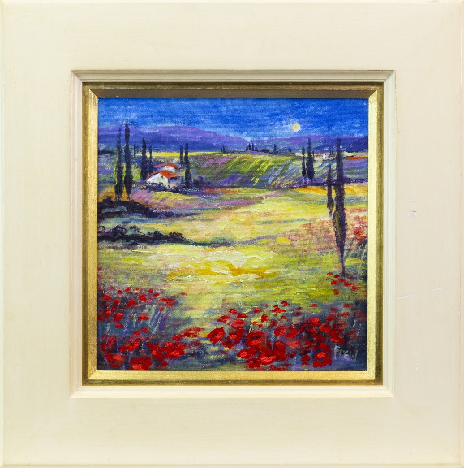 Lot 117 - UNDER THE TUSCAN SUN, AN OIL ON CANVAS BY DOREEN E DAVIS