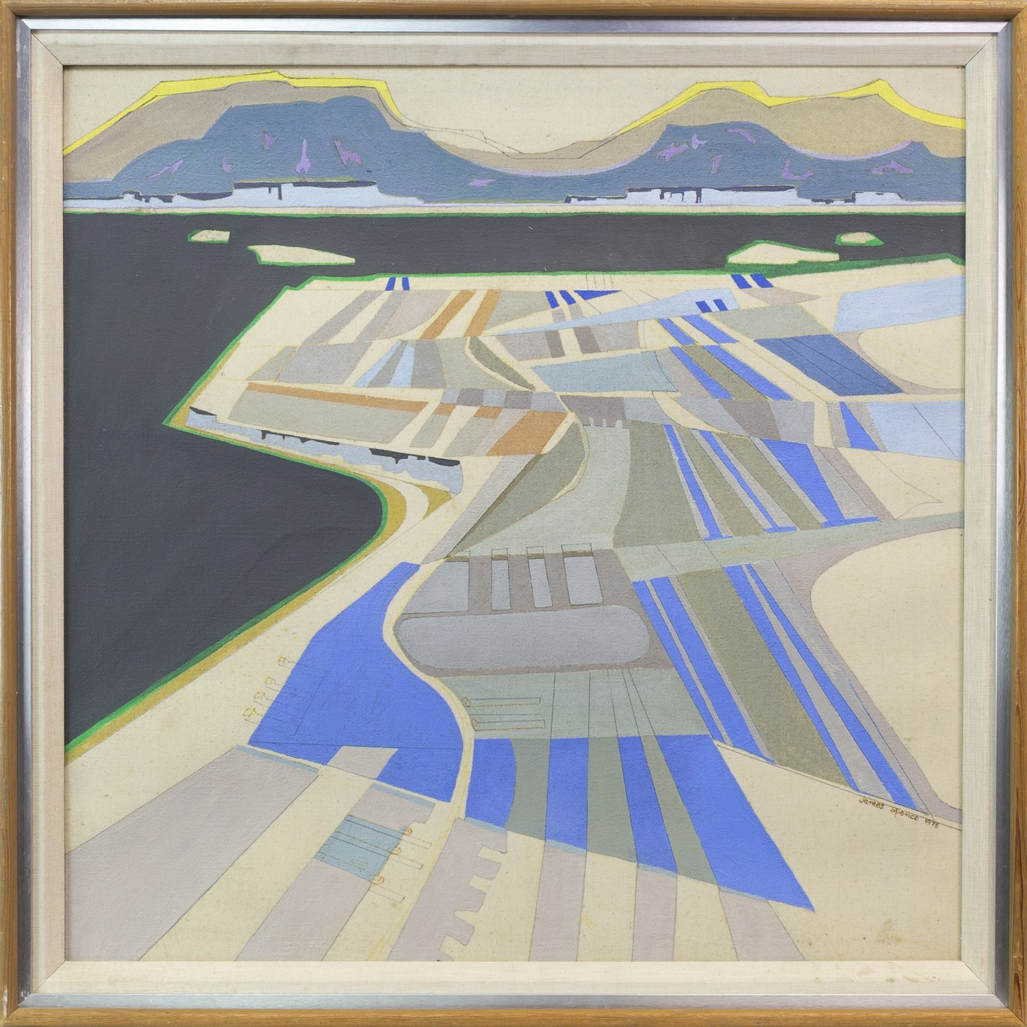 Lot 108 - DURNESS, AN ACRYLIC ON CANVAS BY JAMES SPENCE