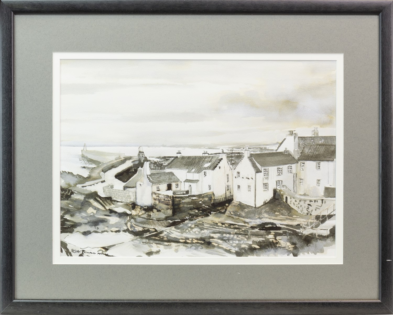Lot 116 - PITTENWEEM, INK AND WASH BY HELEN MCDONALD MATHIE