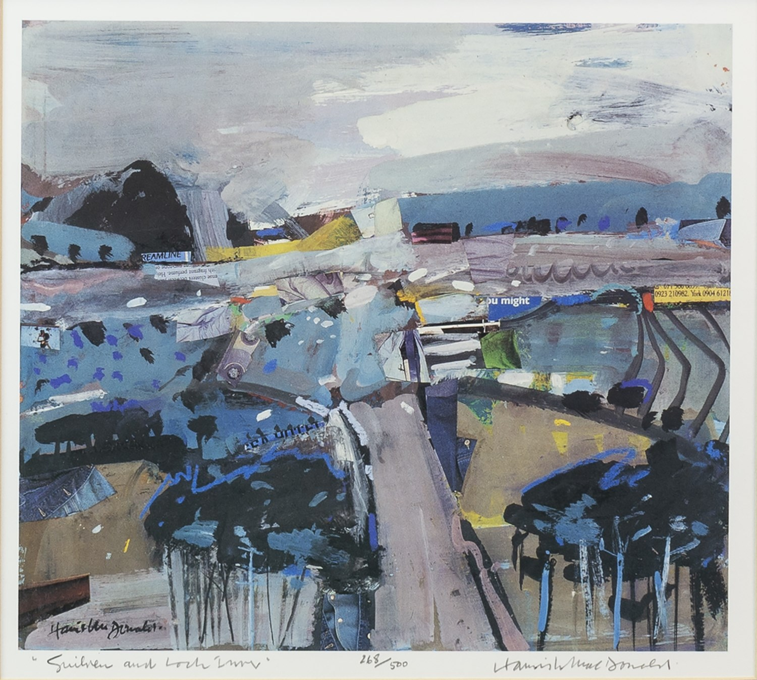 Lot 27 - SUILVEN AND LOCH INVER, A LIMITED EDITION PRINT BY HAMISH MACDONALD