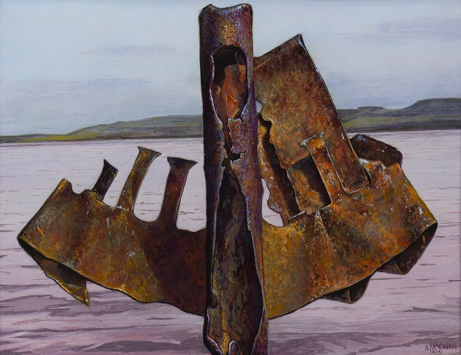 Lot 103 - CORRODING HARMONIOUSLY, A MIXED MEDIA BY ANGUS MCEWAN