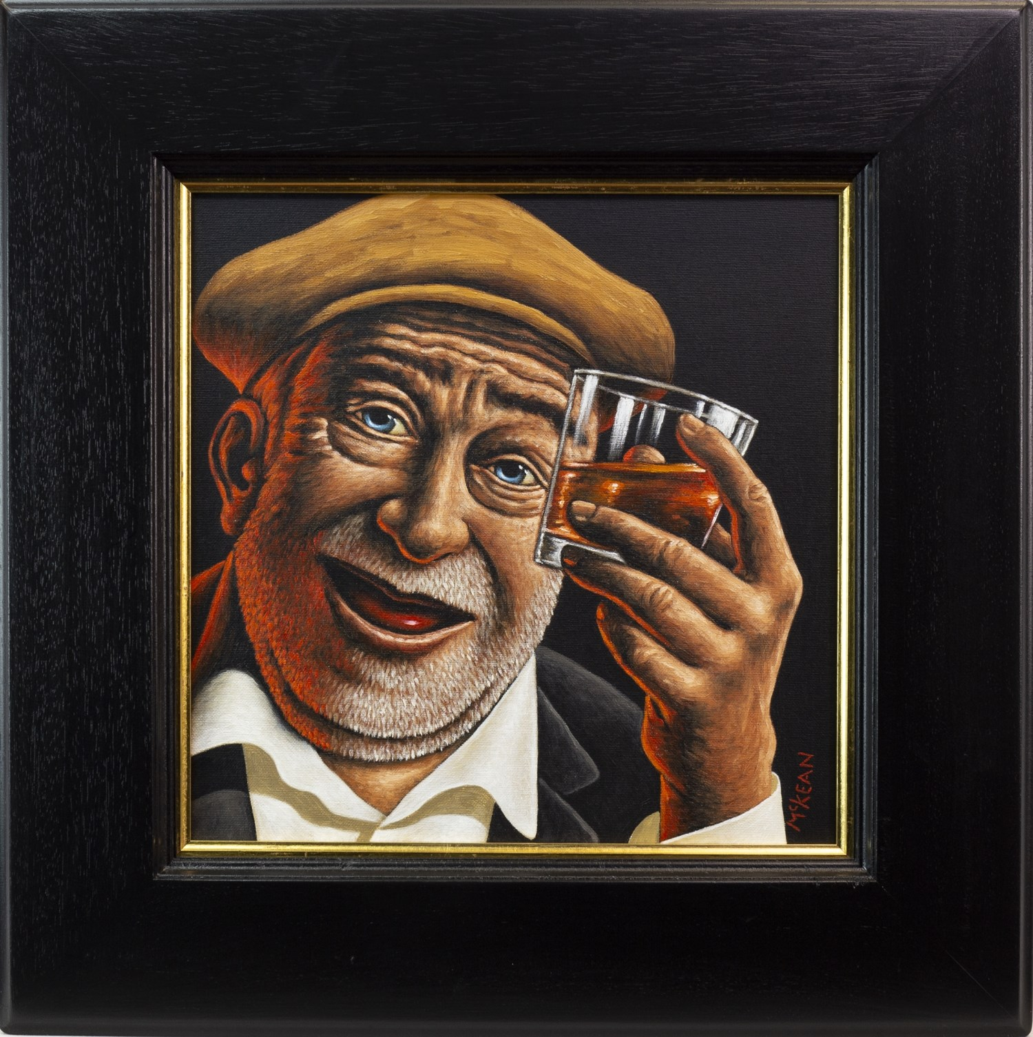 Lot 114 - TO GOOD HEALTH AND HAPPINESS, AN OIL ON CANVAS BY GRAHAM MCKEAN