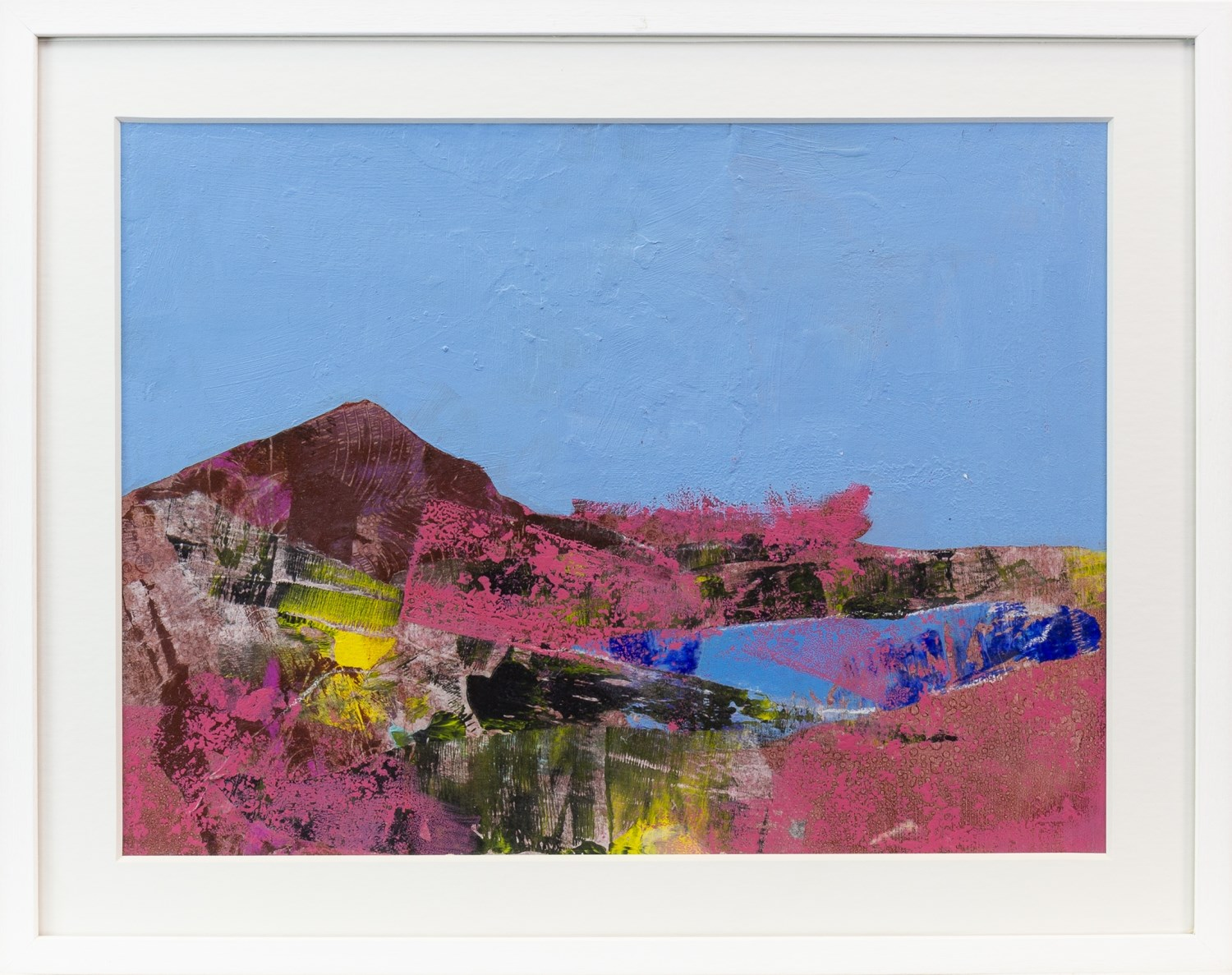 Lot 110 - ULLAPOOL MOOR, A MIXED MEDIA BY CHRISTOPHER BYRNE