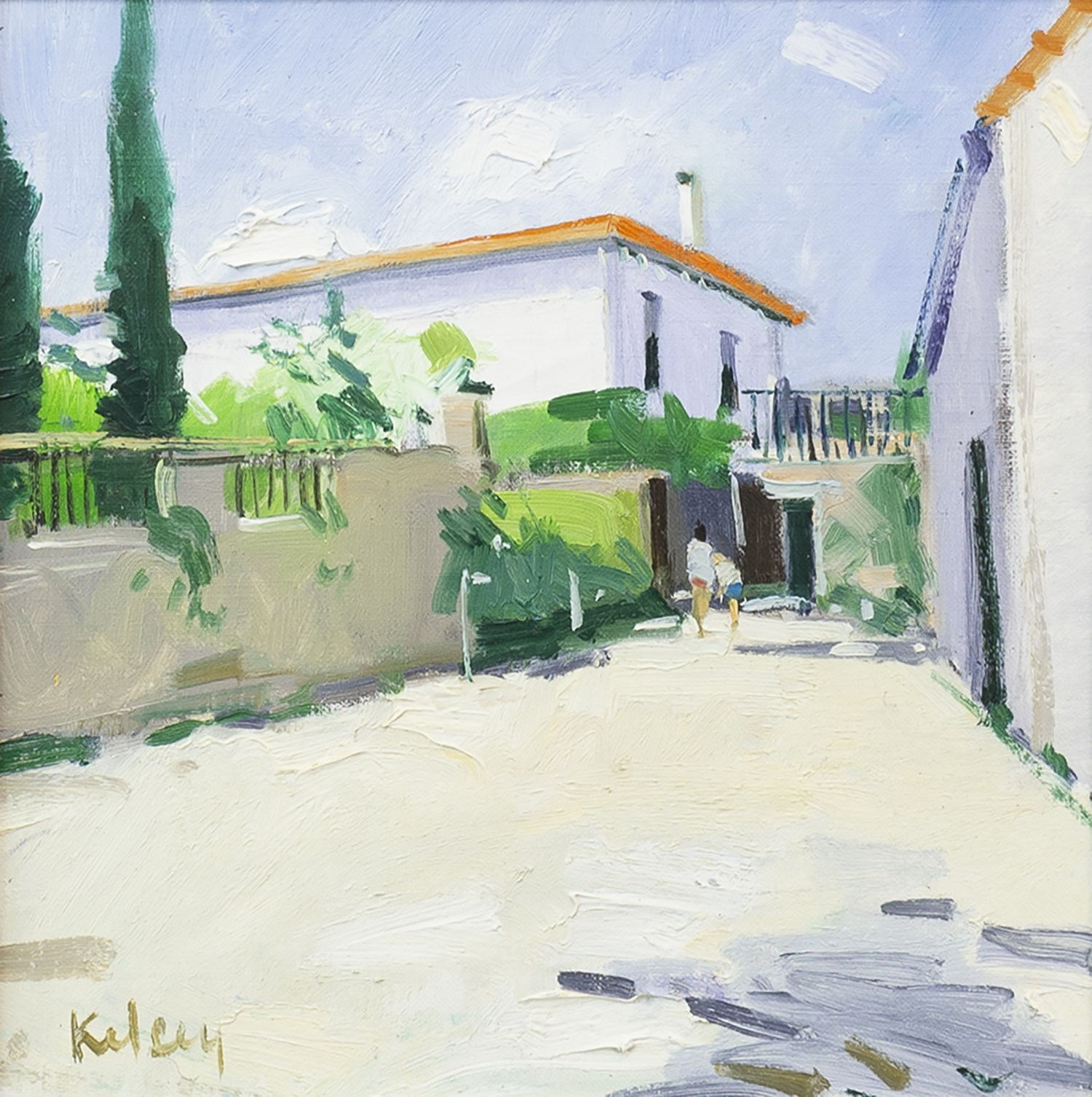 Lot 7 - SPANISH COURTYARD, BY ROBERT KELSEY