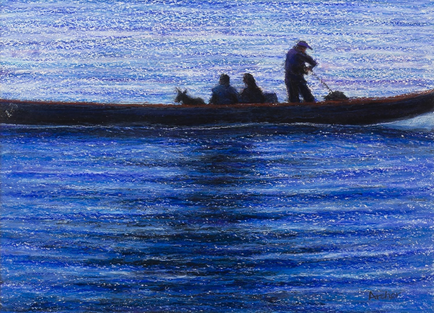 Lot 96 - GIFT FROM THE SEA, A MIXED MEDIA BY PHILIP ARCHER