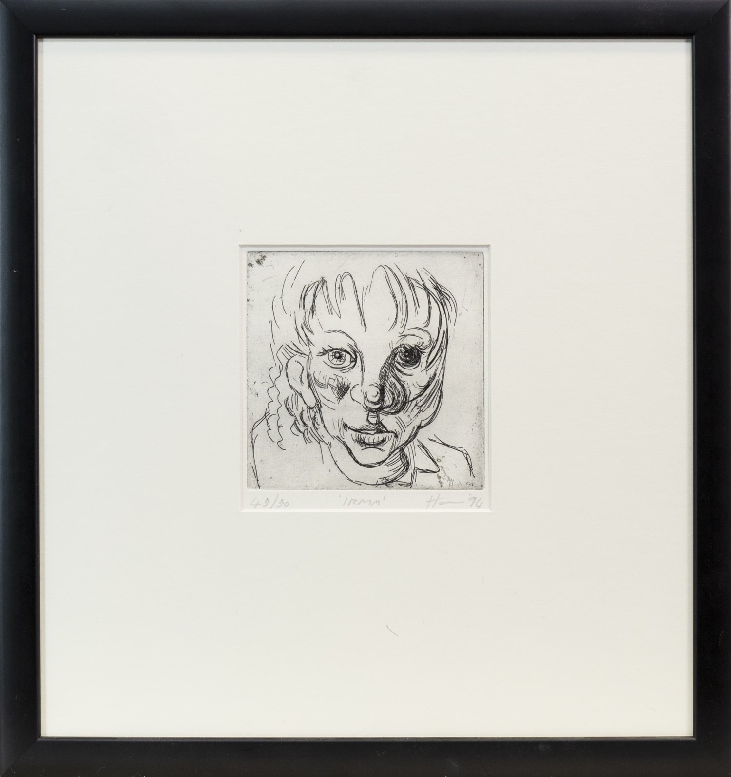 Lot 85 - IRMA, A LIMITED EDITION DRYPOINT BY PETER HOWSON