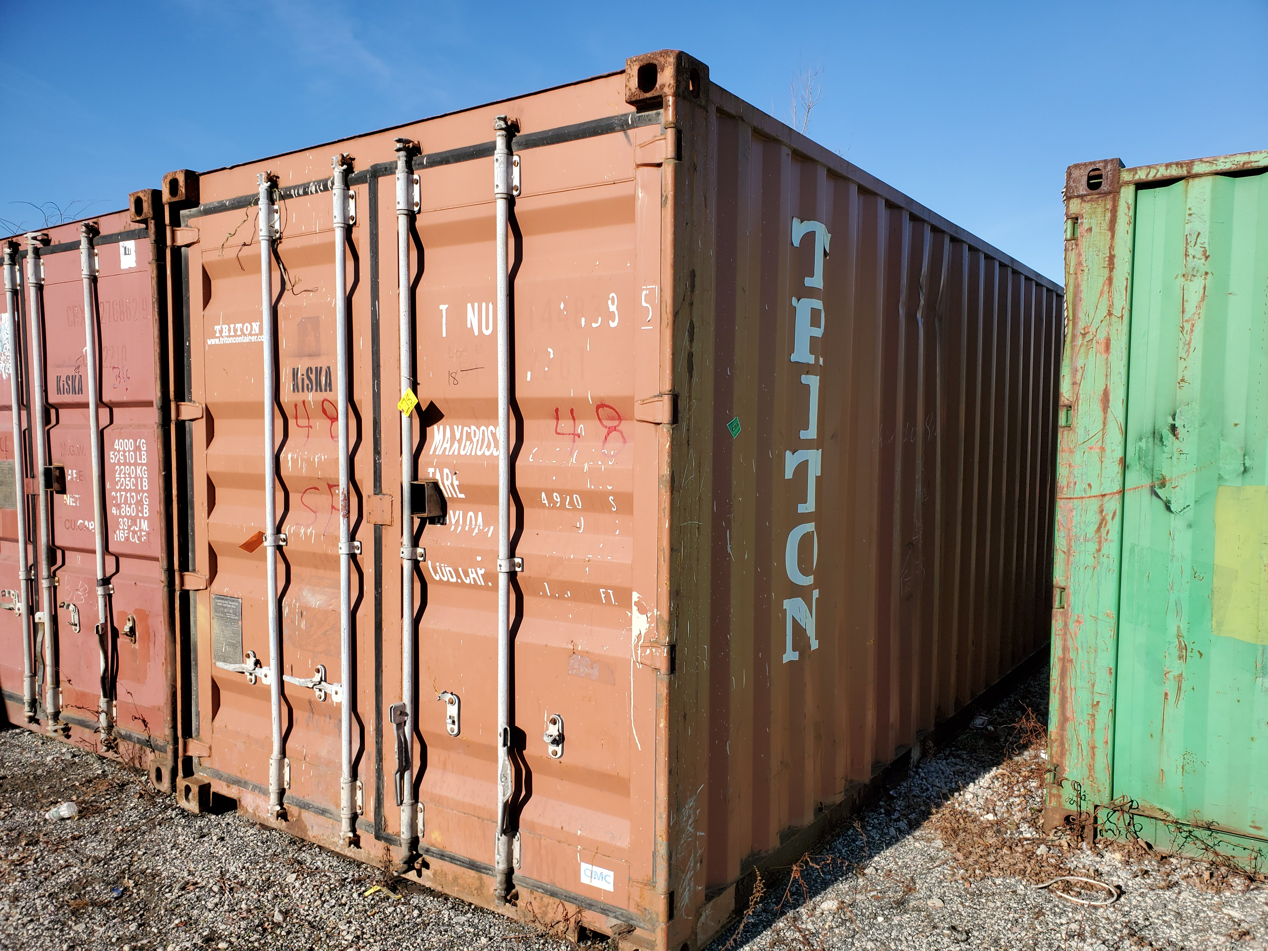 Lot 18 - 20' SHIPPING CONTAINER (TRITON) [LOCATED @ 6 CANAL ROAD, PELHAM, NY (BRONX)]