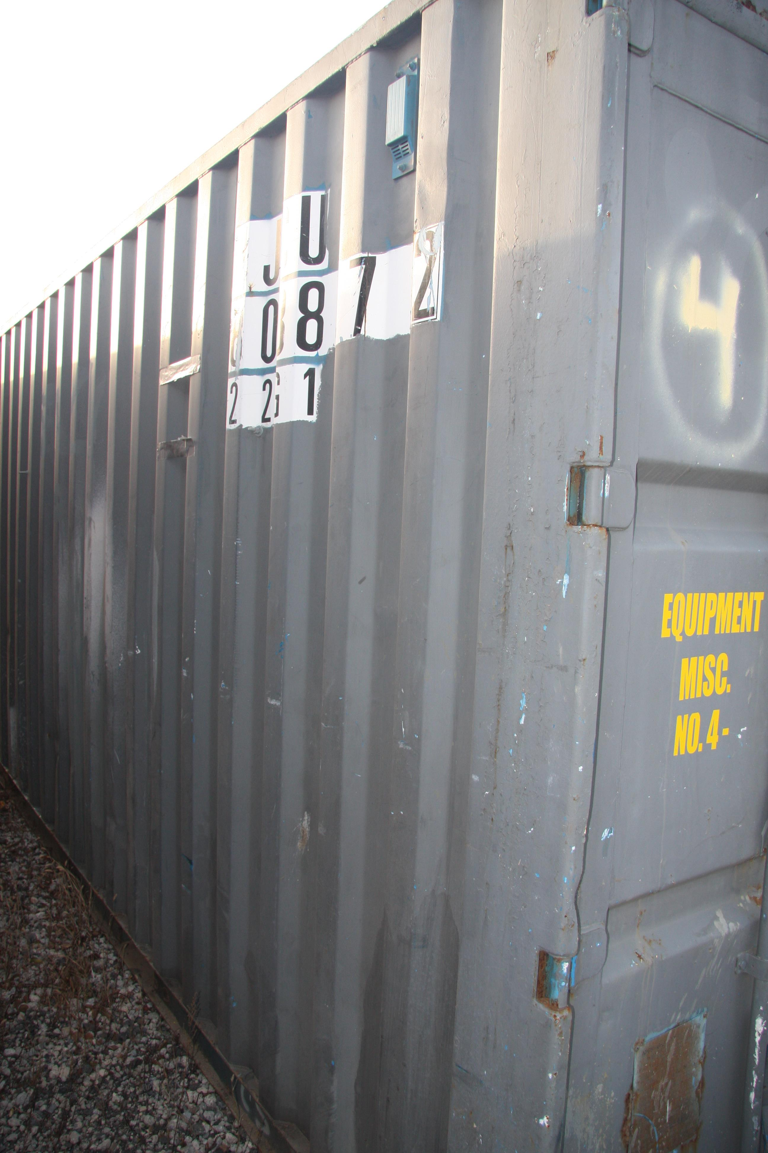 Lot 19 - 20' SHIPPING CONTAINER (#4) [LOCATED @ 6 CANAL ROAD, PELHAM, NY (BRONX)]