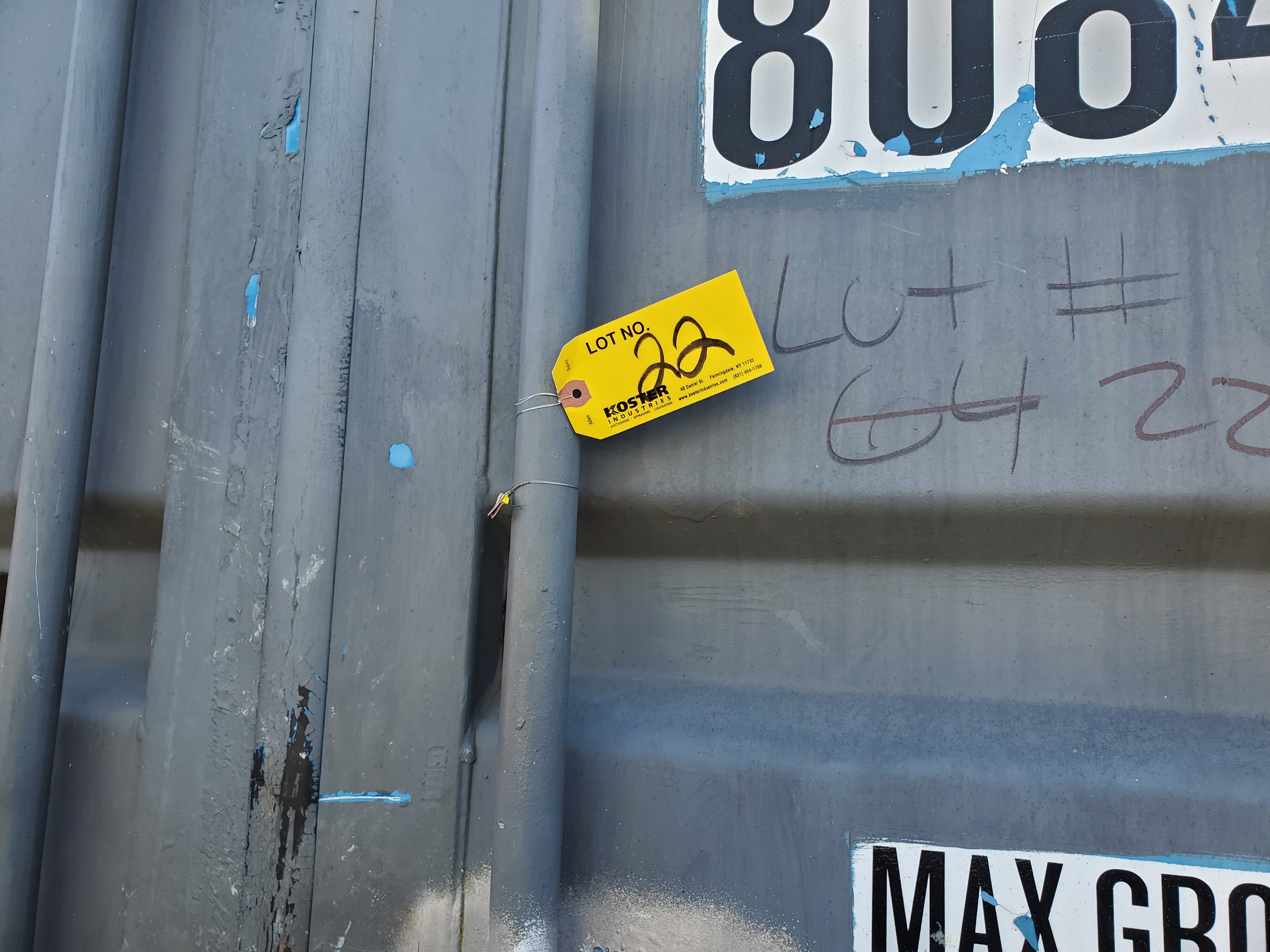 Lot 22 - 20' SHIPPING CONTAINER [LOCATED @ 6 CANAL ROAD, PELHAM, NY (BRONX)]