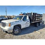 2007 GMC 3500HD 12' STAKE BODY TRUCK, AUTOMATIC, APPROXIMATELY 20,011 MILES, LINCOLN ELECTRIC