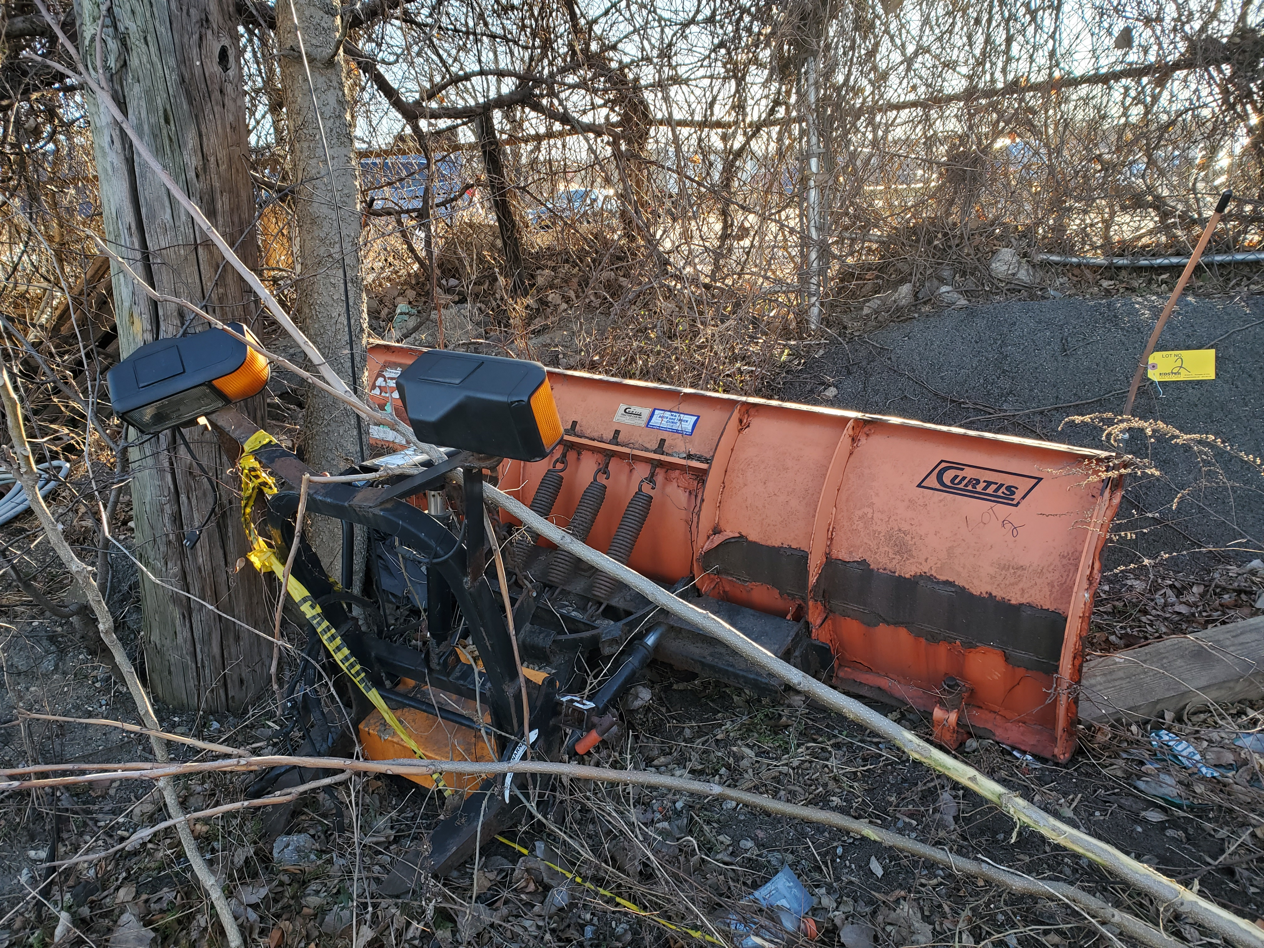 Lot 2 - 8' CURTIS SNOW PLOW ATTACHMENT [LOCATED @ KEM YARD - PELHAM MANOR, BRONX, NY]