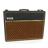 Lot 322 - 1964 Vox AC30 guitar amplifier, ser. no. 10627N, copper control panel, brown lattice grille cloth,
