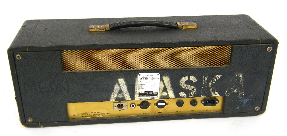 Lot 321 - Mid 1960s Marshall JTM50 'Black Flag' amplifier head, ser. no. S/10086, outer casing in tired