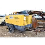 2004 Atlas Copco XAS375 Compressor, Trailer Mounted, 125 PSIG; S/N 89724232345; Meter Shows 7,100