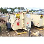 Ingersoll-Rand L6-4MH Light Plant; S/N 395670ULRC45, Meter Shows 9,950 Hrs; (Unit LP14); Needs