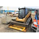 2012 Cat 259B3 Skidsteer, EROPS, Bucket, New Tracks; S/N YYZ02397; Meter Shows 8,806 Hrs; (Unit