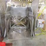 "AMFEC Stainless Steel Dumper Model 115C : SN 90705, 48"" x 48"", 5 HP Rigging Fee: 750"