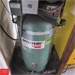 SpeedAire Air Compressor Model 1WD55 : SN D056318, 80 Gallon Rigging Fee: 50