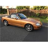 MAZDA MX5 SPORTS CAR, first registered 27/05/1999, 1840cc, petrol, 56,000 miles, registration number