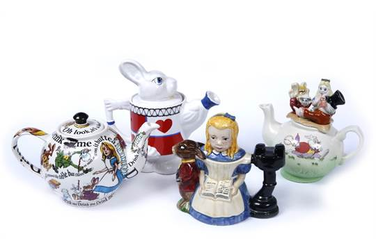 A Disney Limited Edition Cardew Design Alice In Wonderland Teapot
