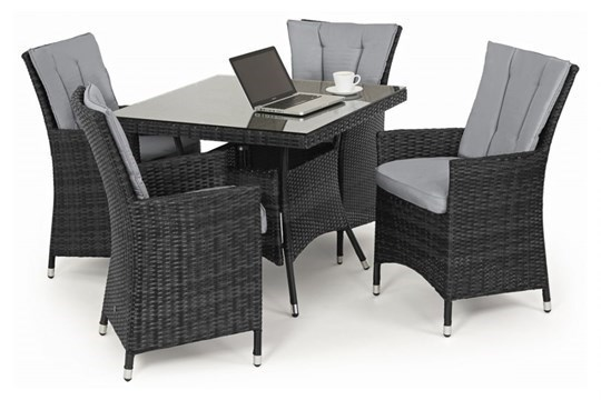 Rattan LA 4 Seat Square Outdoor Dining Set (Grey) *BRAND NEW* - Image 2 of 3