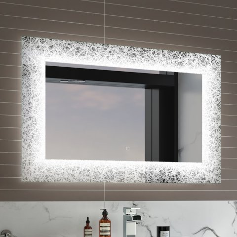 S12 600x900mm Galactic Designer Illuminated Led Mirror Switch Control Rrp Light Up