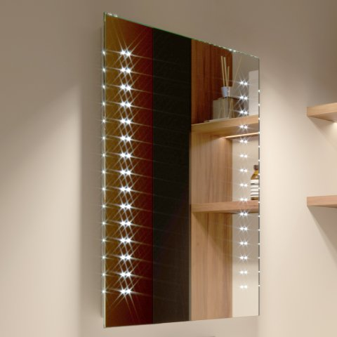 S13 500x700mm galactic led mirror battery operated for Mirror 48 x 60
