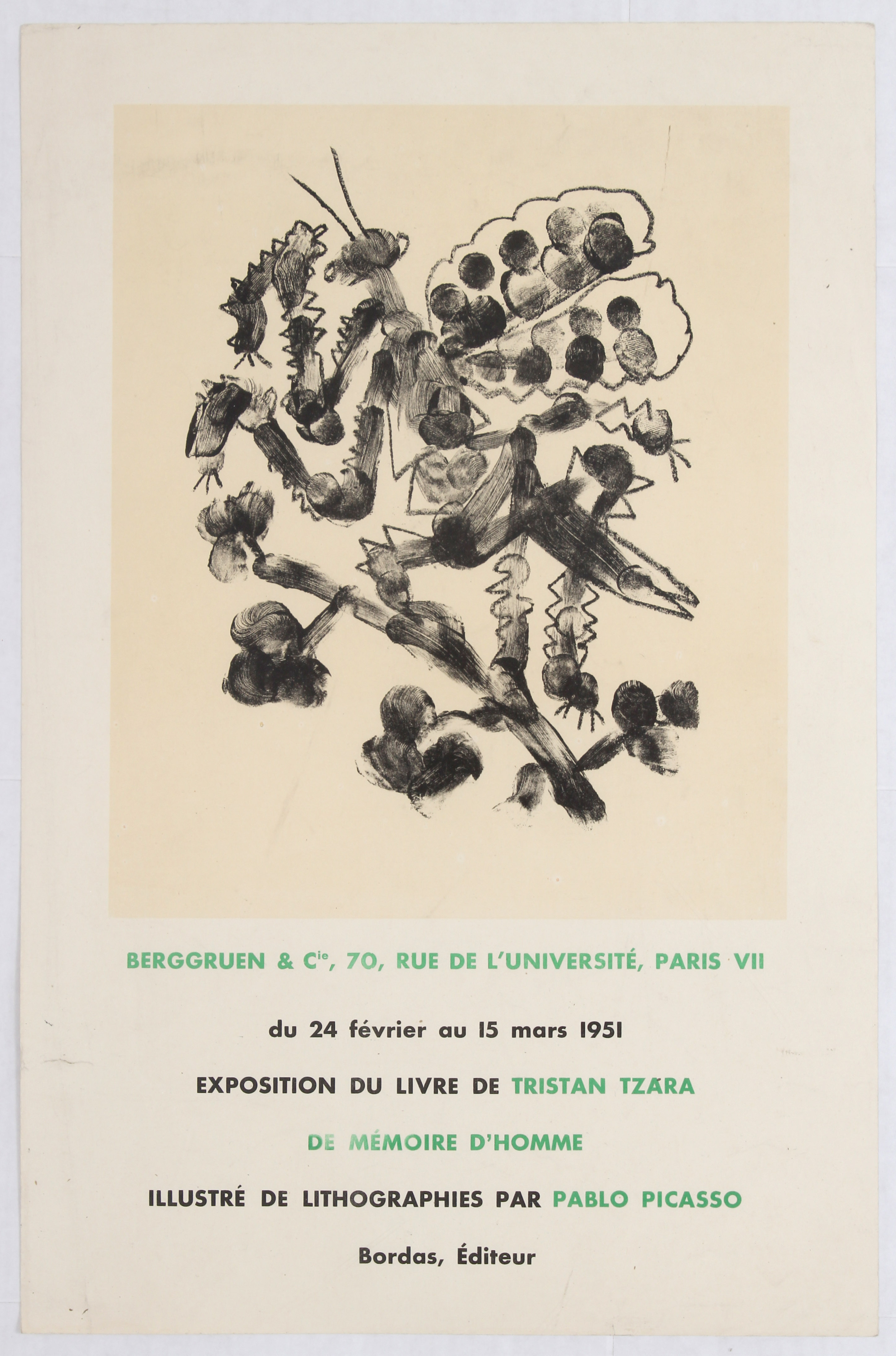 Lot 1513 - Exhibition Advertising Poster Tristan Tzara Picasso