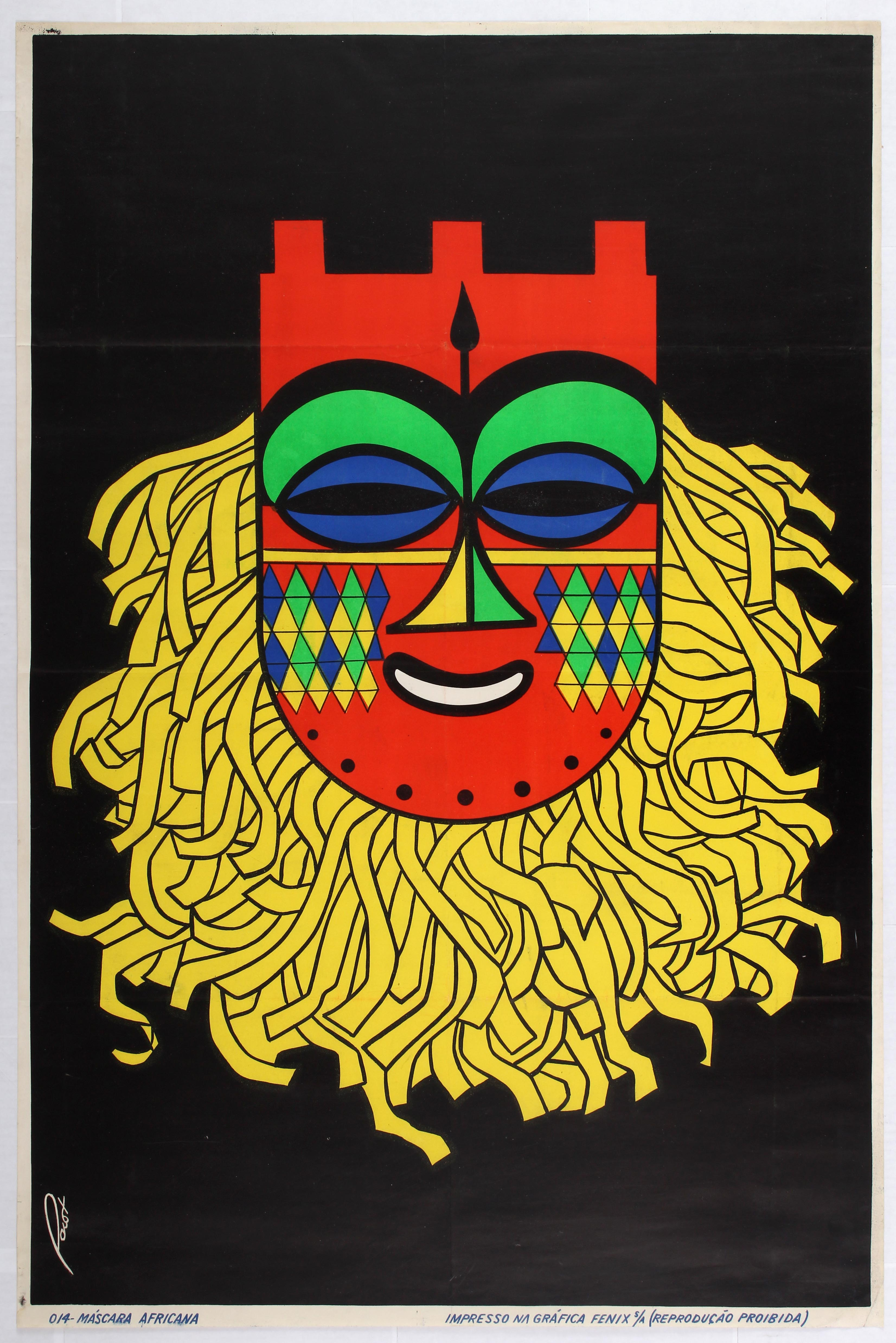 Lot 1518 - African Mask Advertising Poster