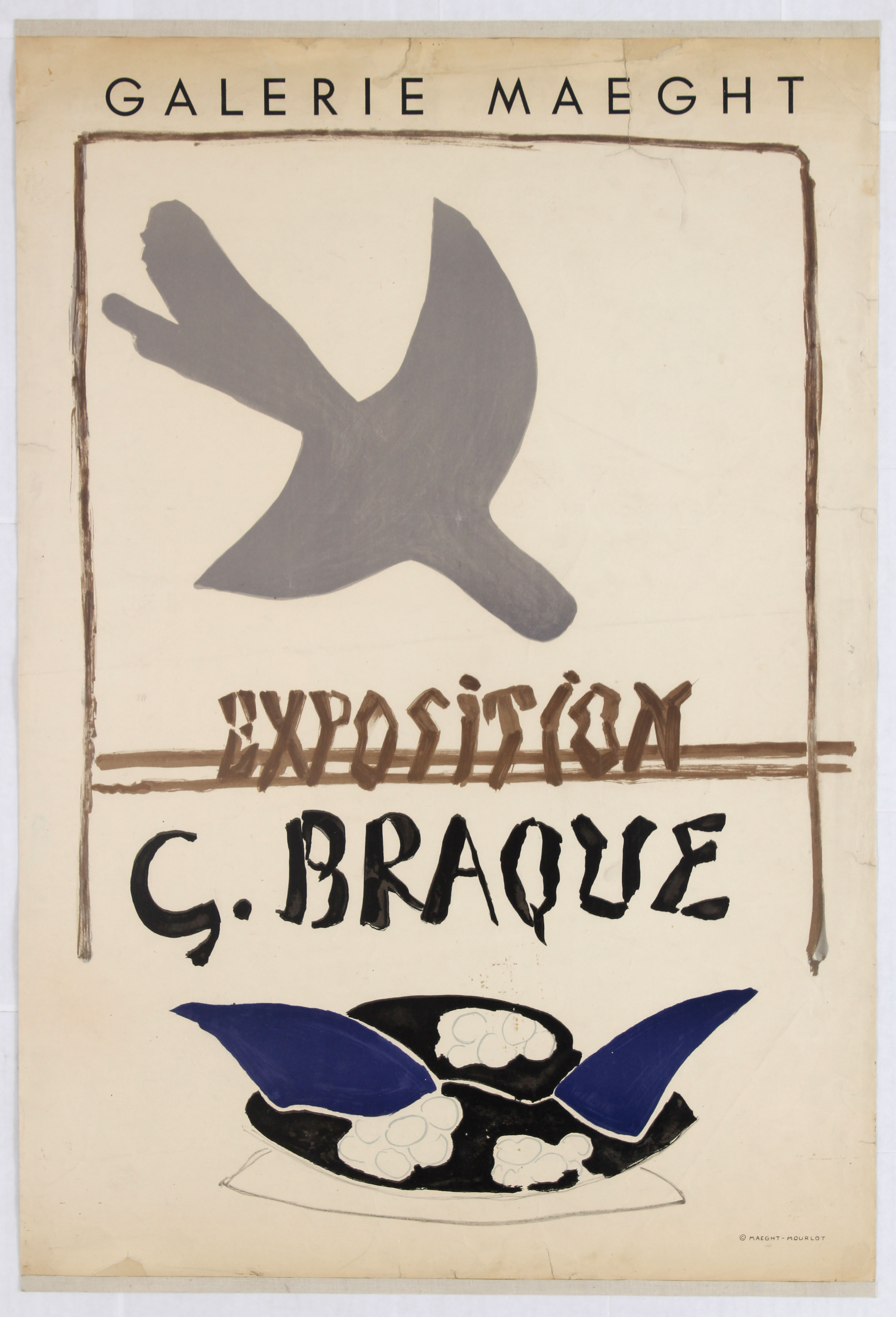 Lot 1501 - Exhibition Poster Exposition George Braque Gallery Maeght