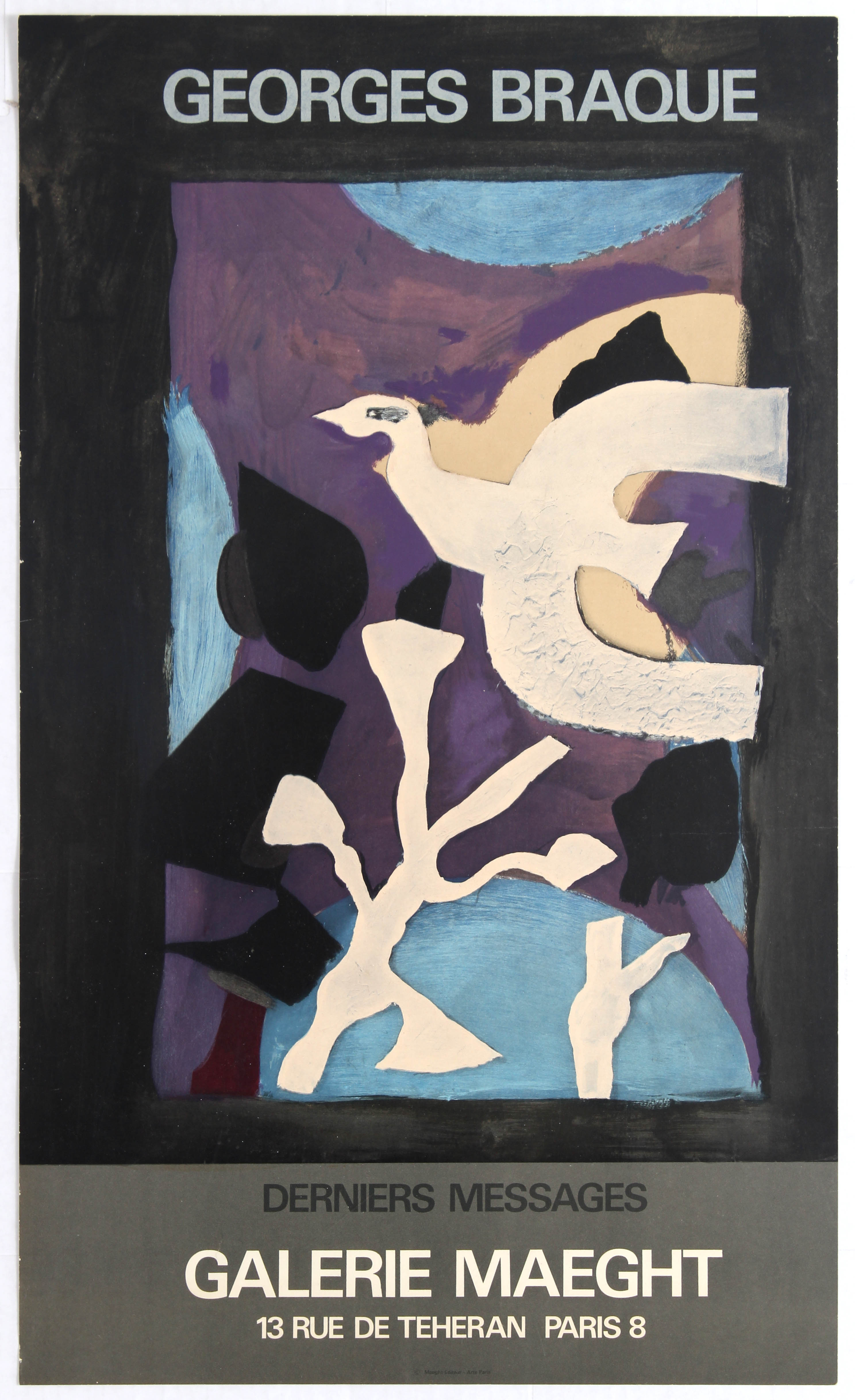 Lot 1600 - Exhibition Advertising Poster George Braque Gallery Maeght