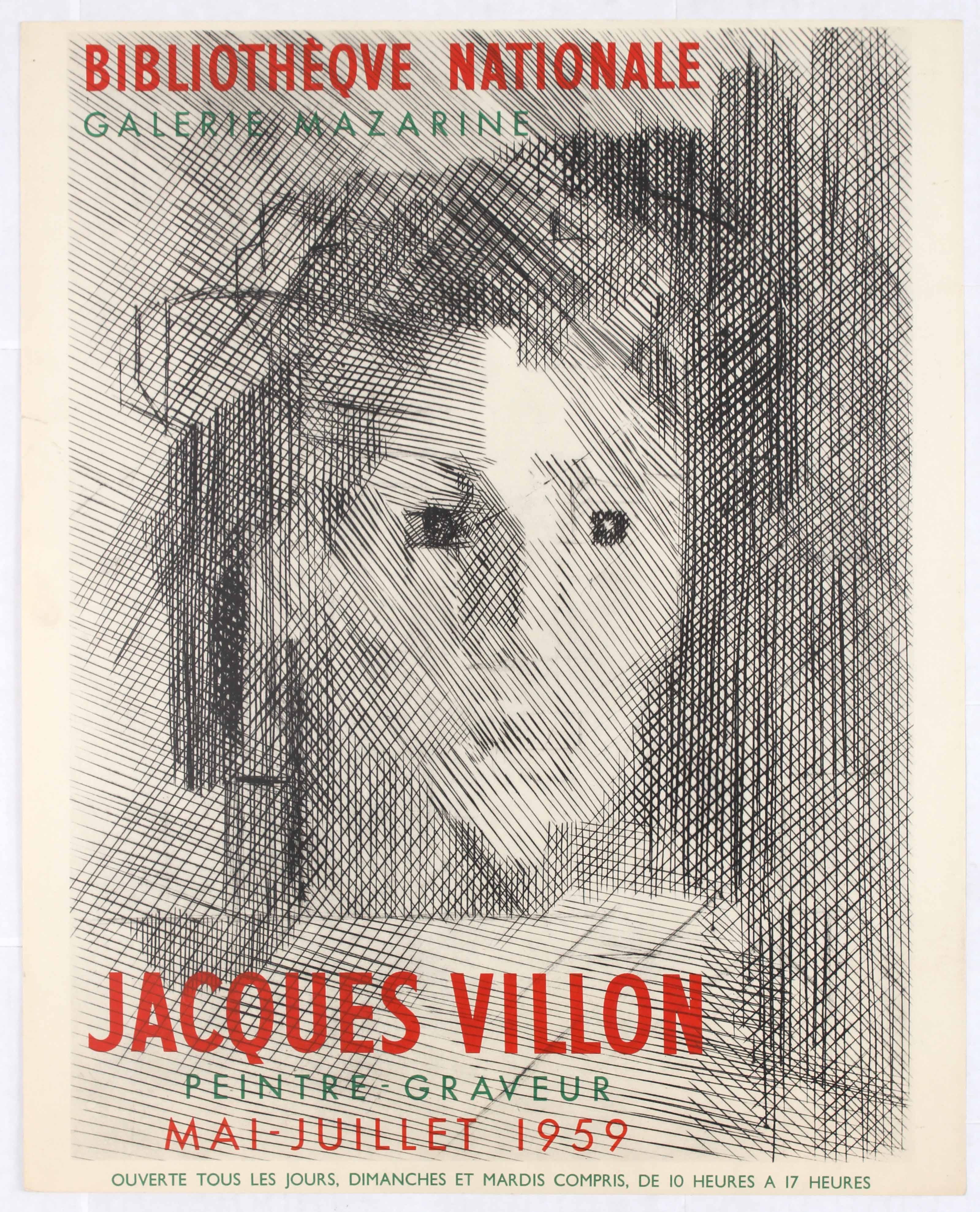 Lot 1512 - Exhibition Advertising Poster Jacques Villon