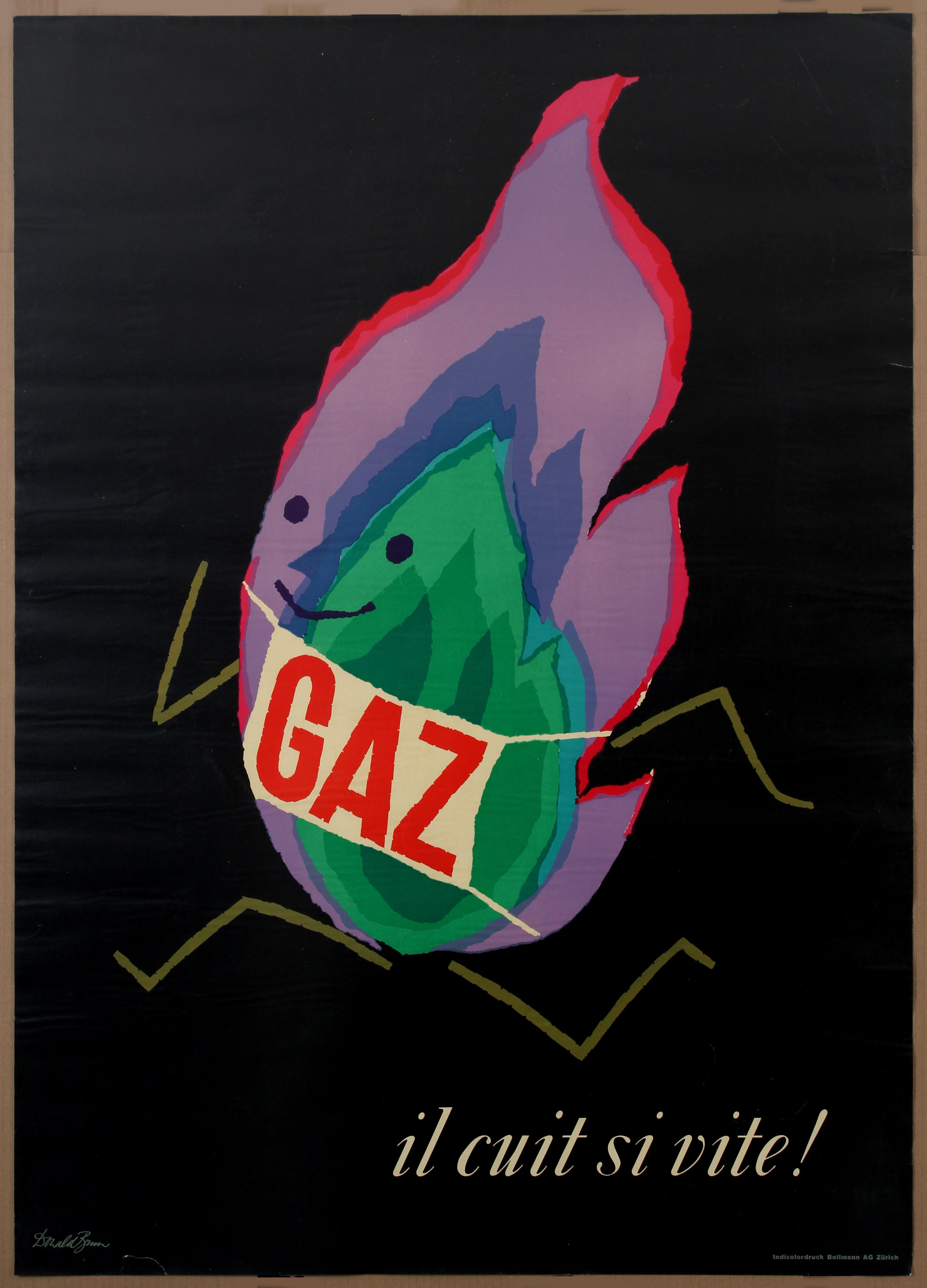 Lot 1523 - Advertising Poster Gas Donald Brun