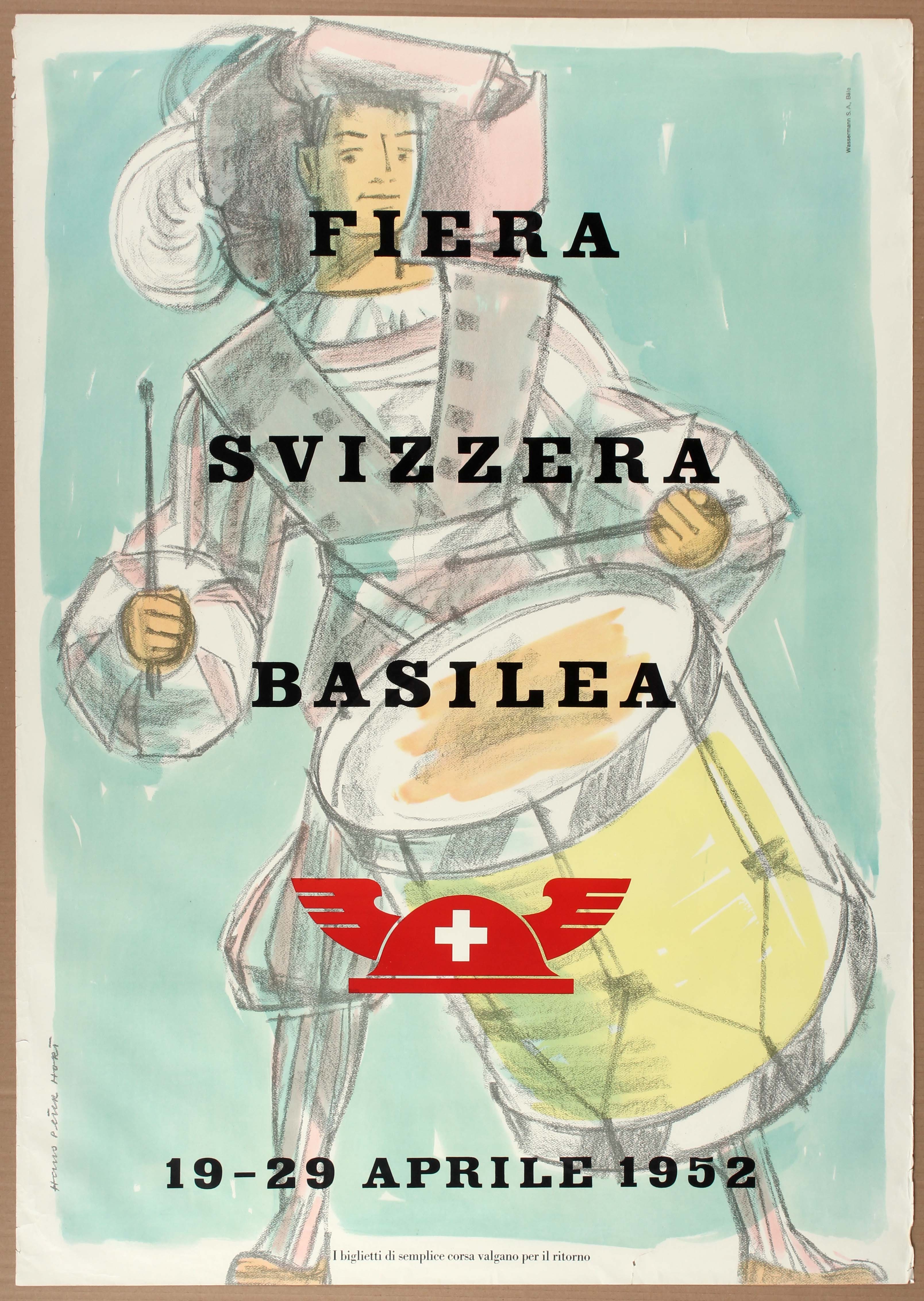 Lot 1520 - Advertising Poster Basel Swiss Fair 1952