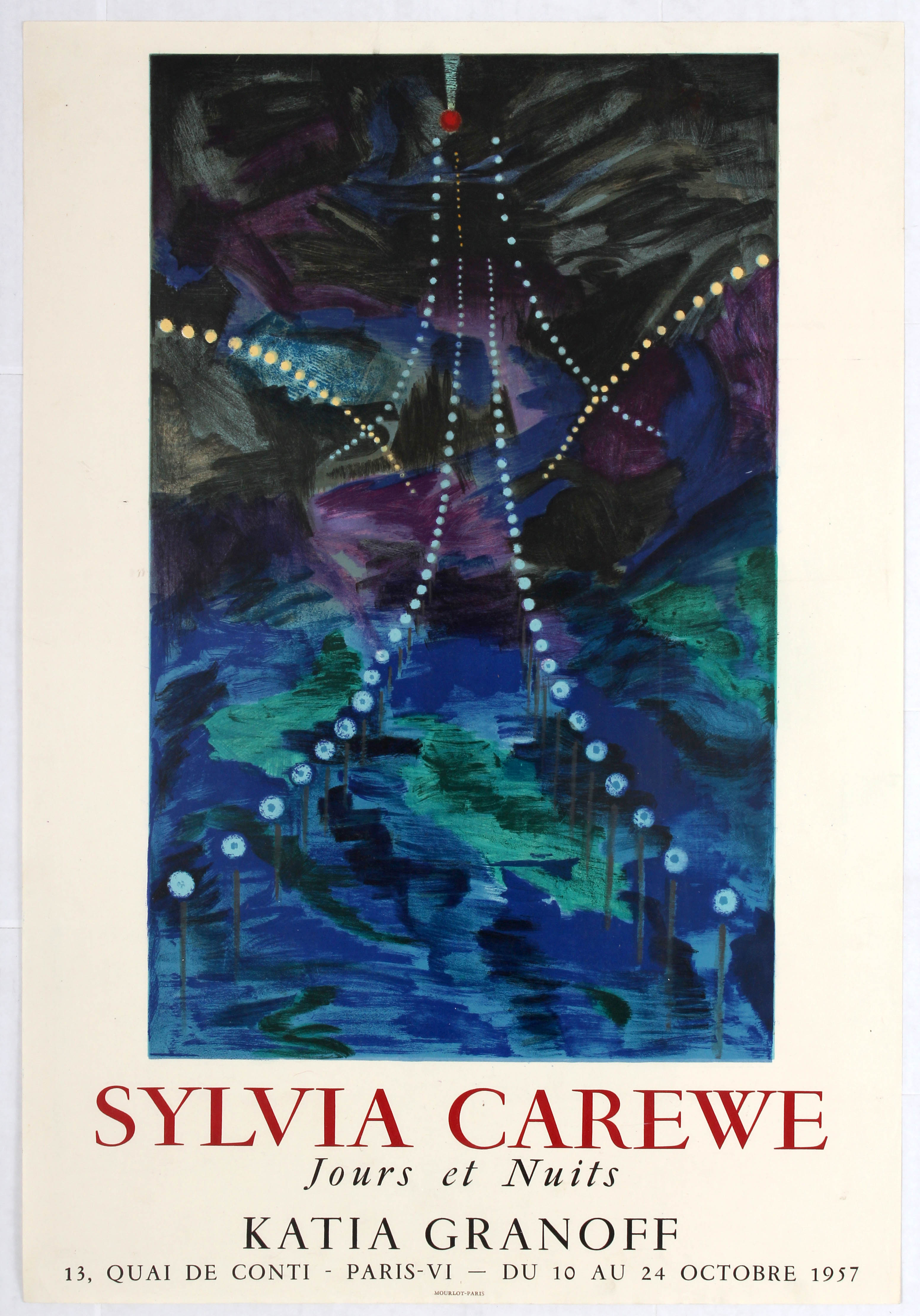 Lot 1504 - Advertising Poster Sylvia Carewe Exhibition