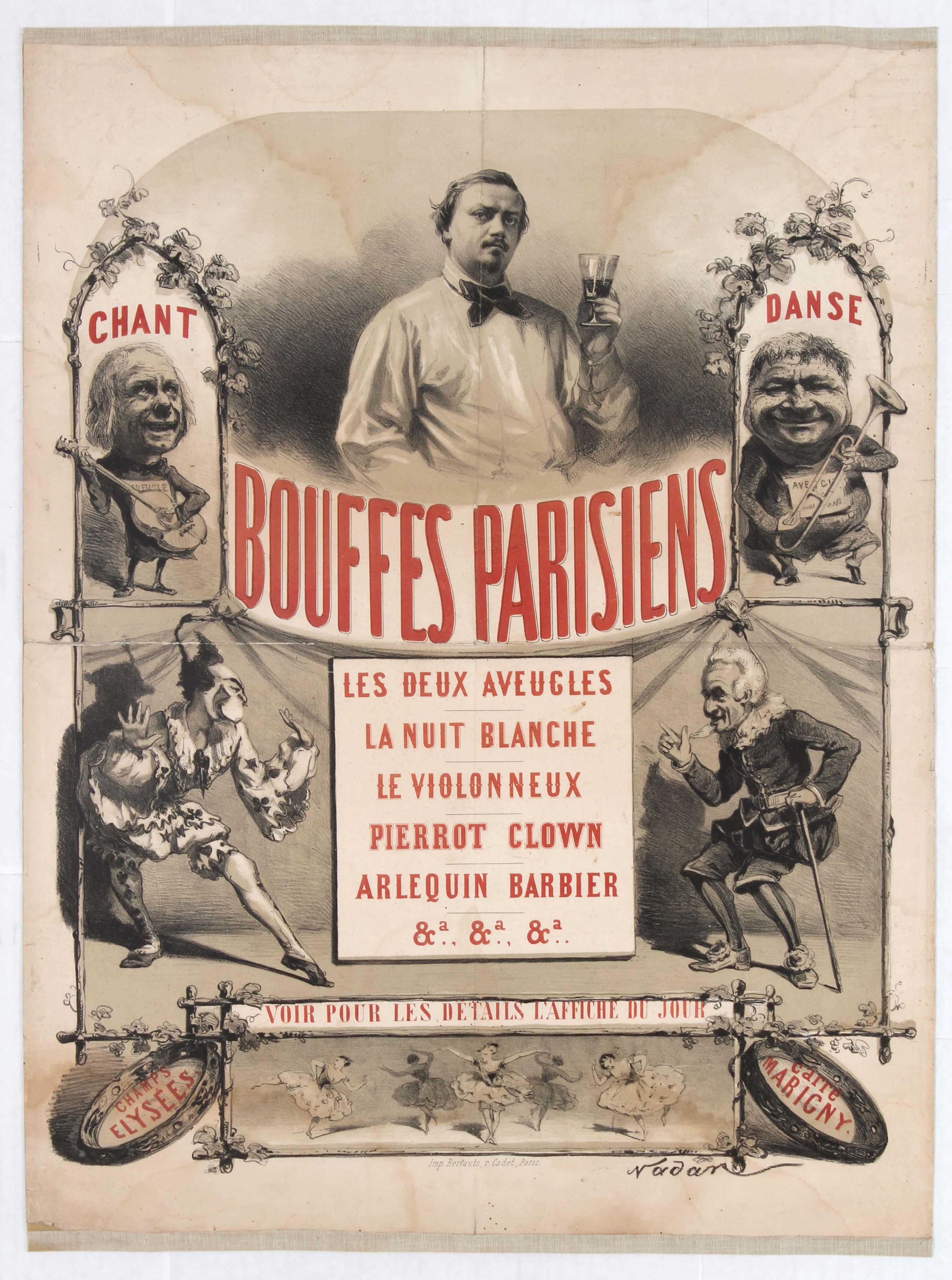 Lot 1004 - Advertising Poster Parisian Cabaret