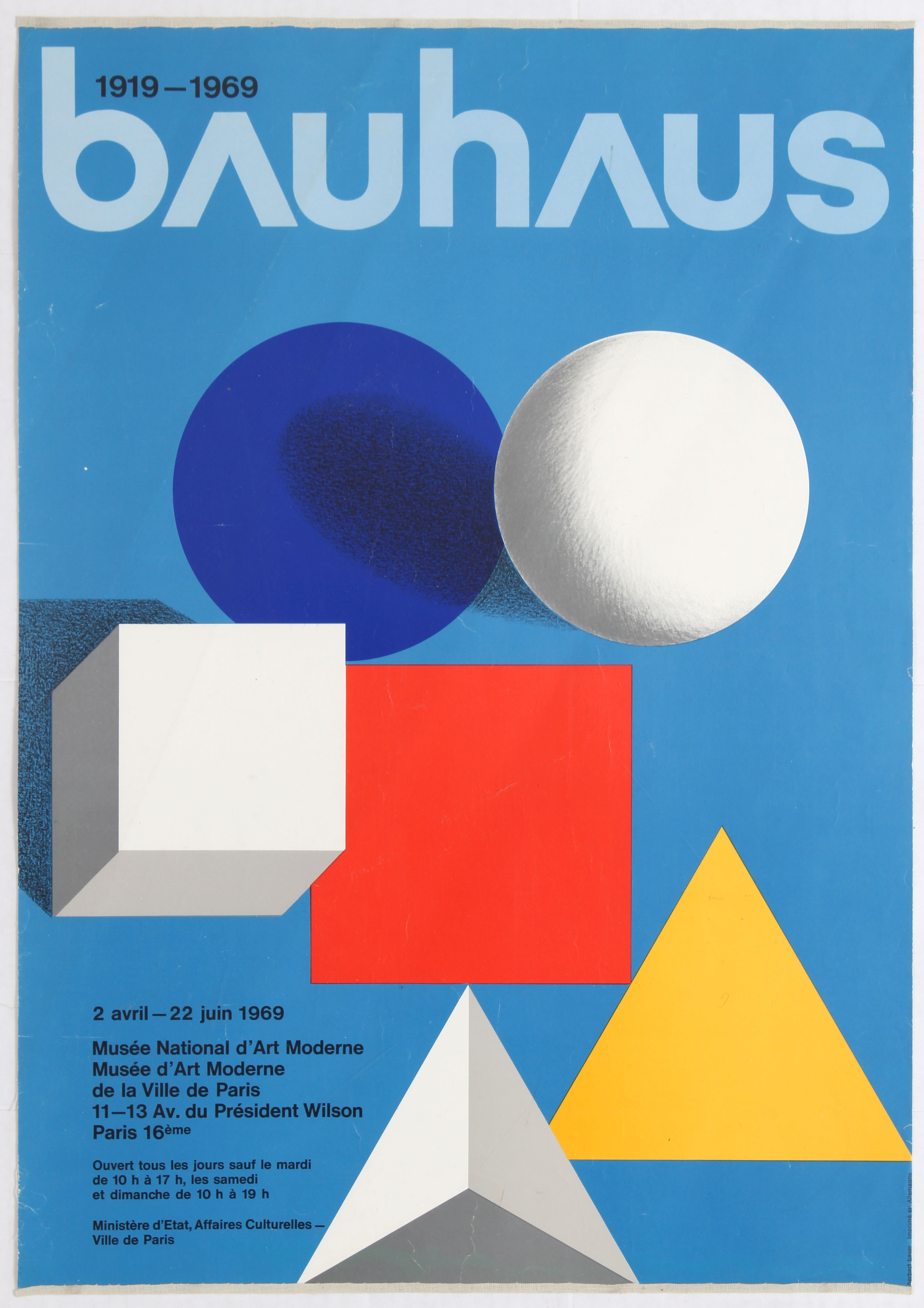 Lot 1601 - Exhibition Advertising Poster 50 years of Bauhaus