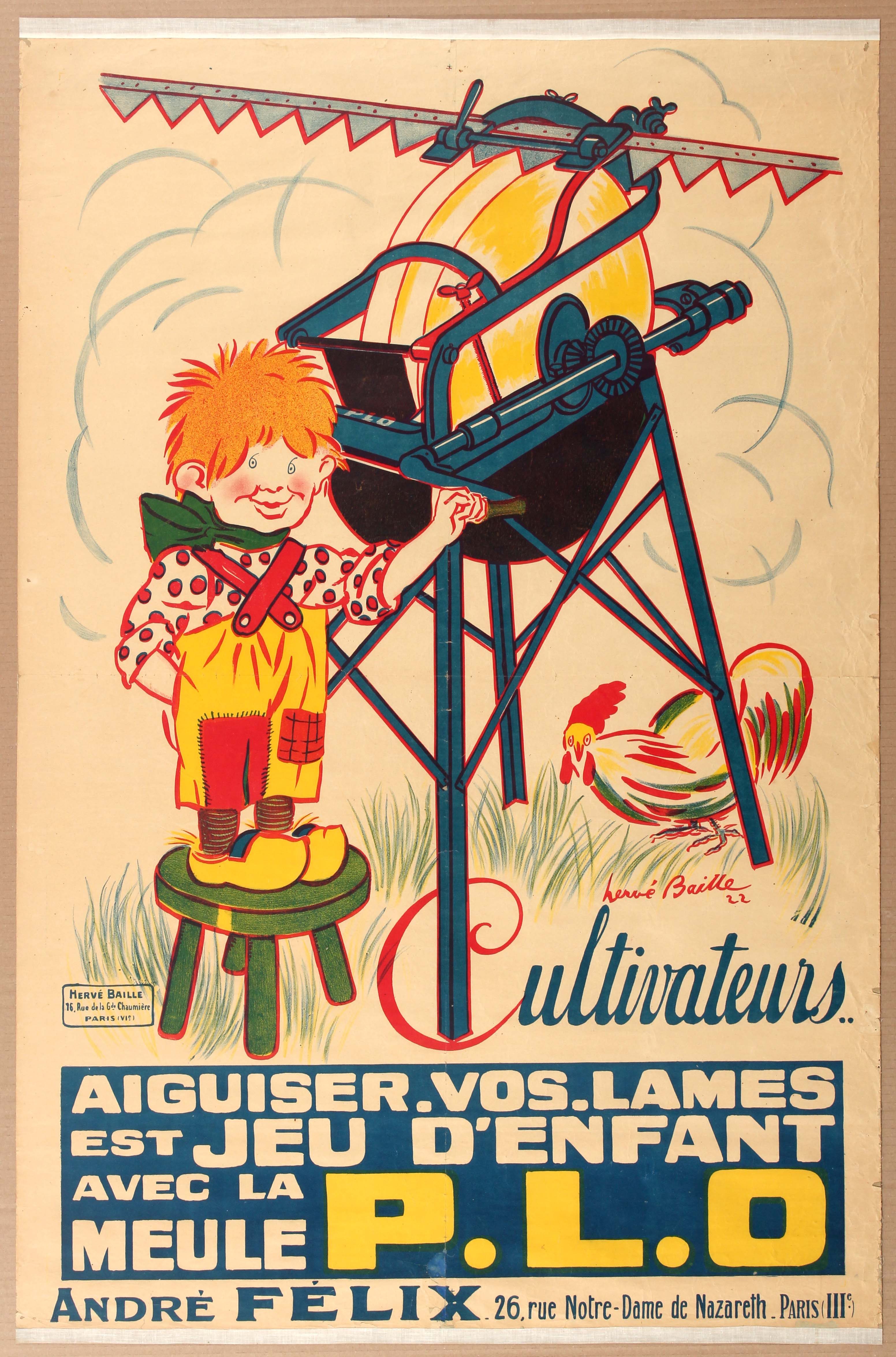 Lot 1202 - Advertising Poster Grindstone Farm Equipment