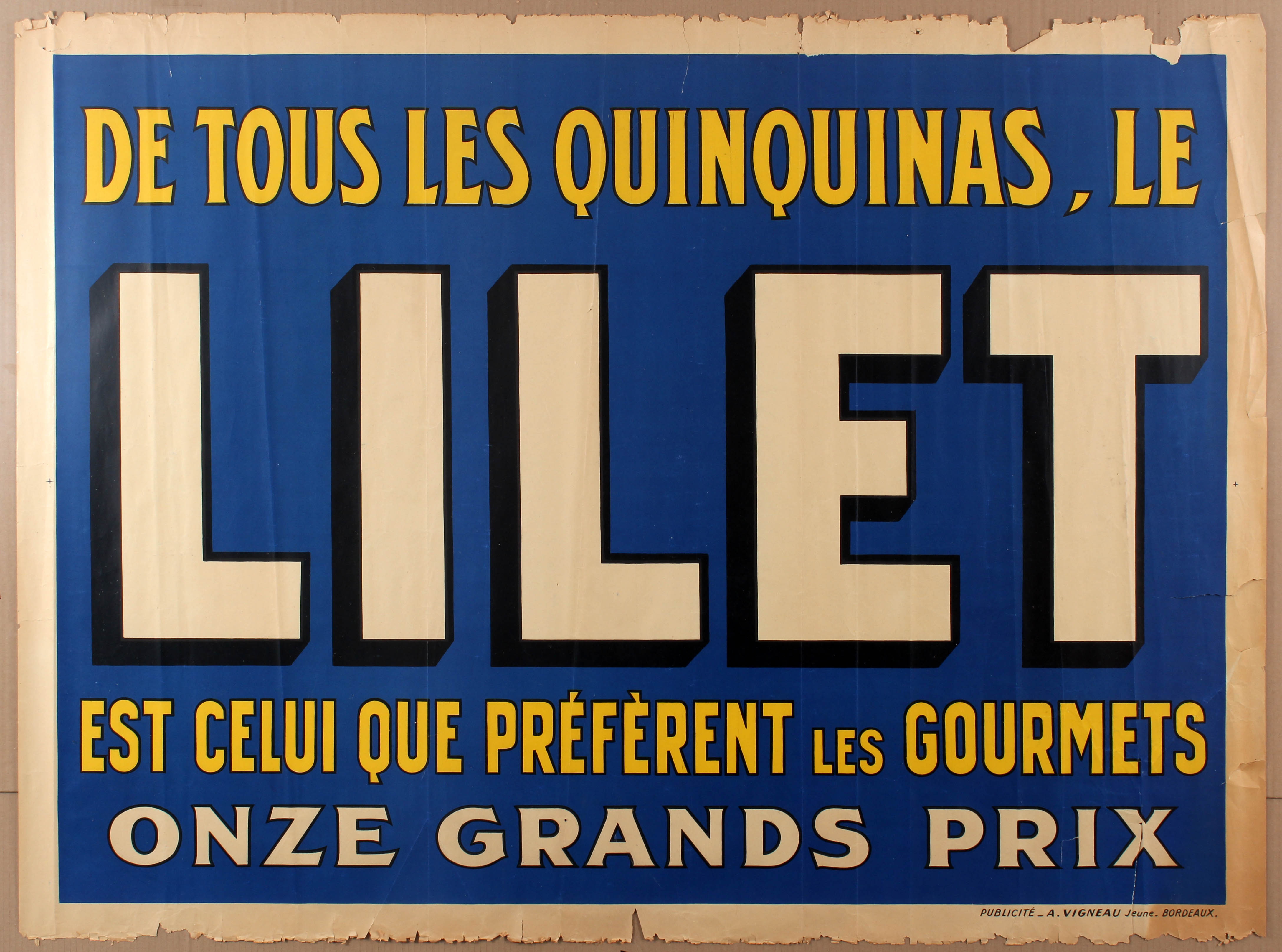 Lot 1012 - Advertising Poster Lilet Alcohol Quinquina