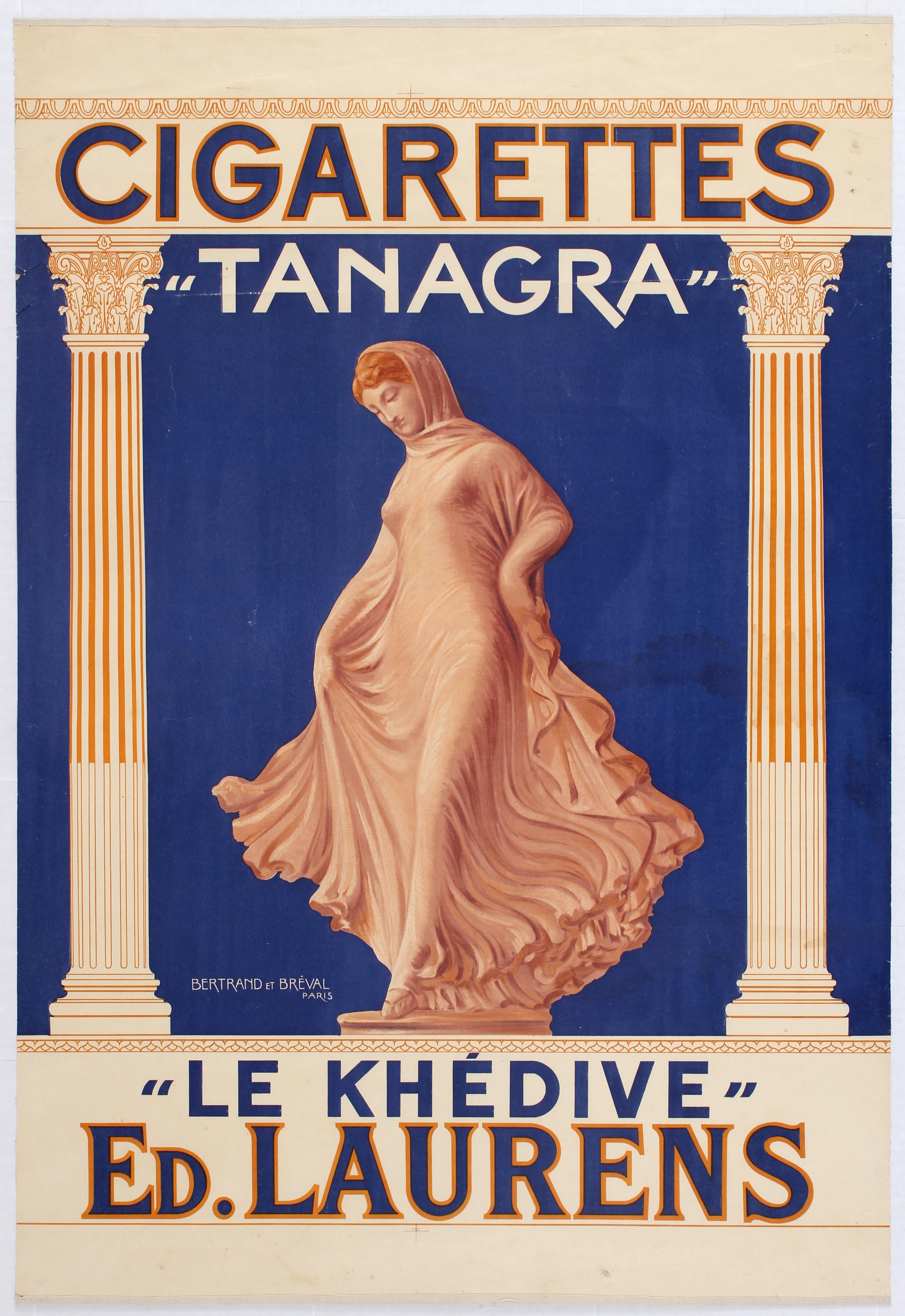 Lot 1011 - Advertising Poster Cigarettes Tanagra France