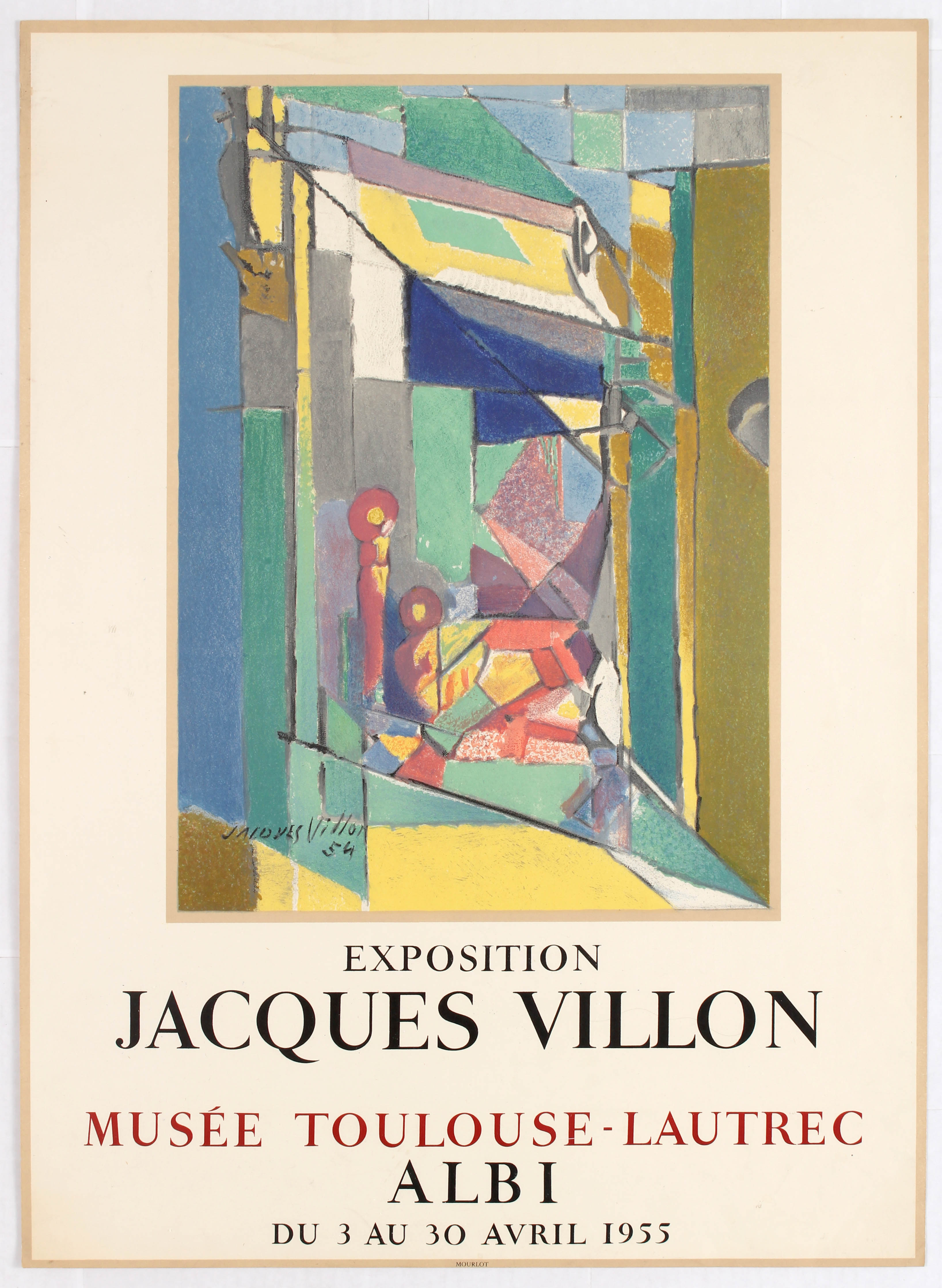 Lot 1500 - Exhibition Advertising Poster Jacques Villon Albi 1955