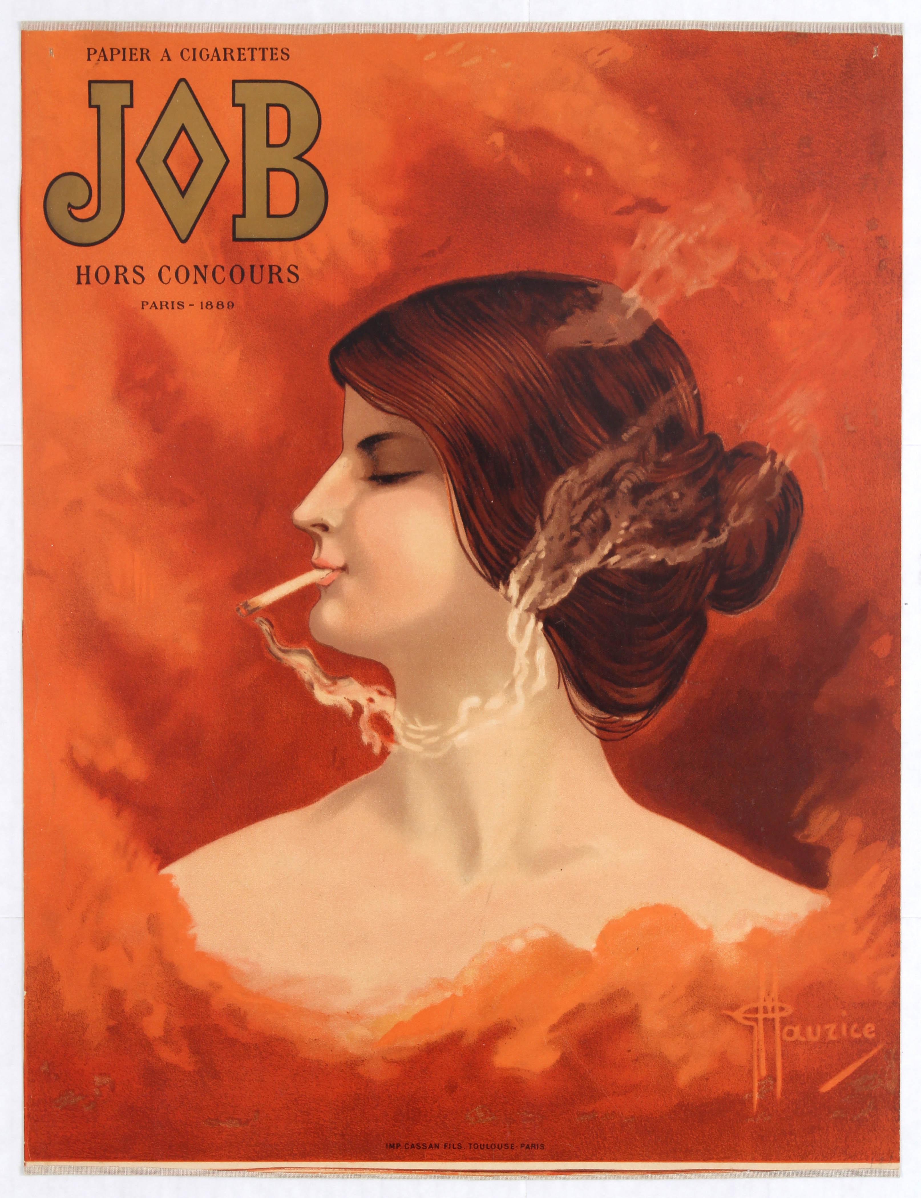 Lot 1007 - Advertising Poster Cigarette Paper Job