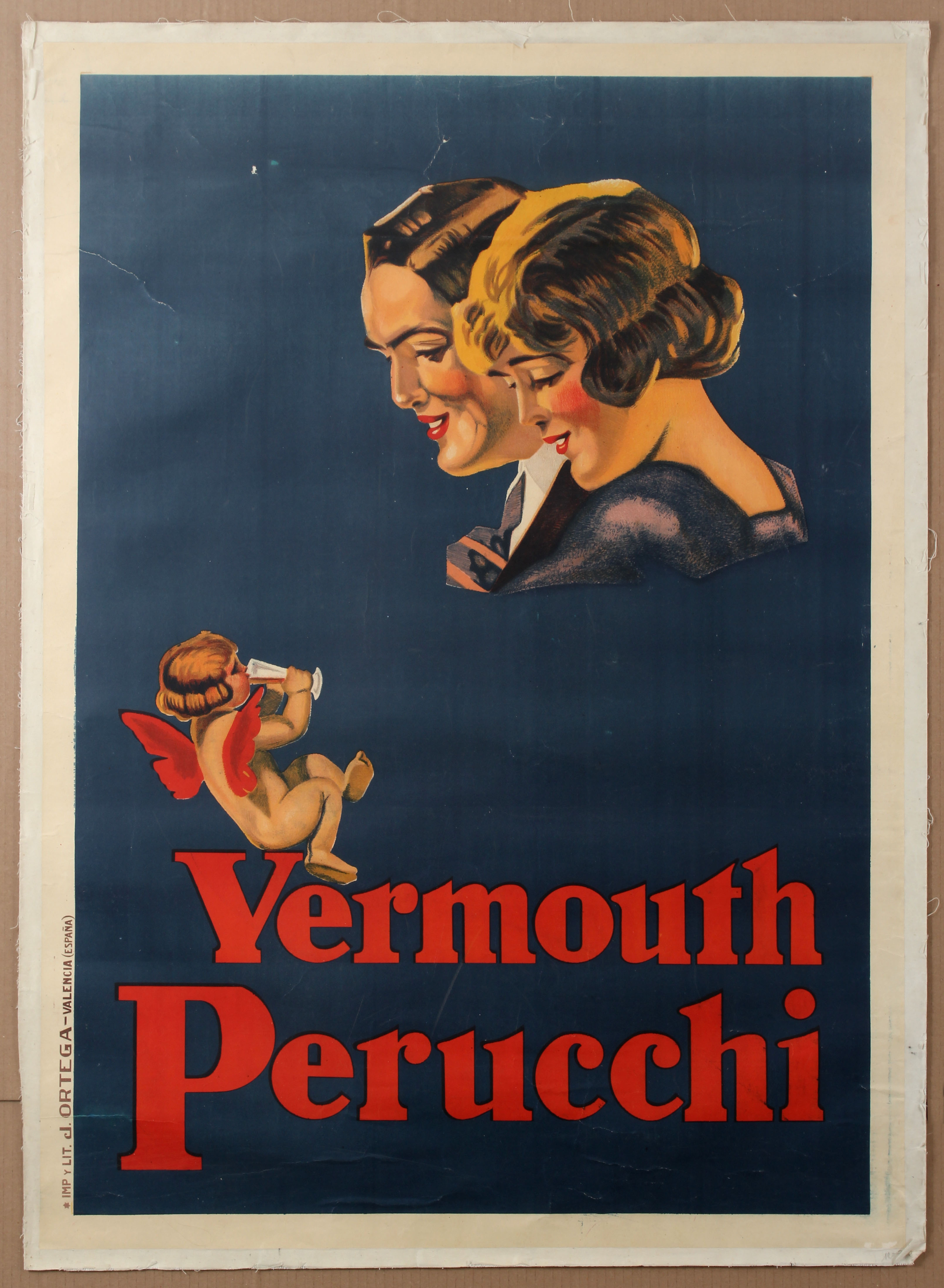 Lot 1305 - Advertising Poster Vermouth Perucchi