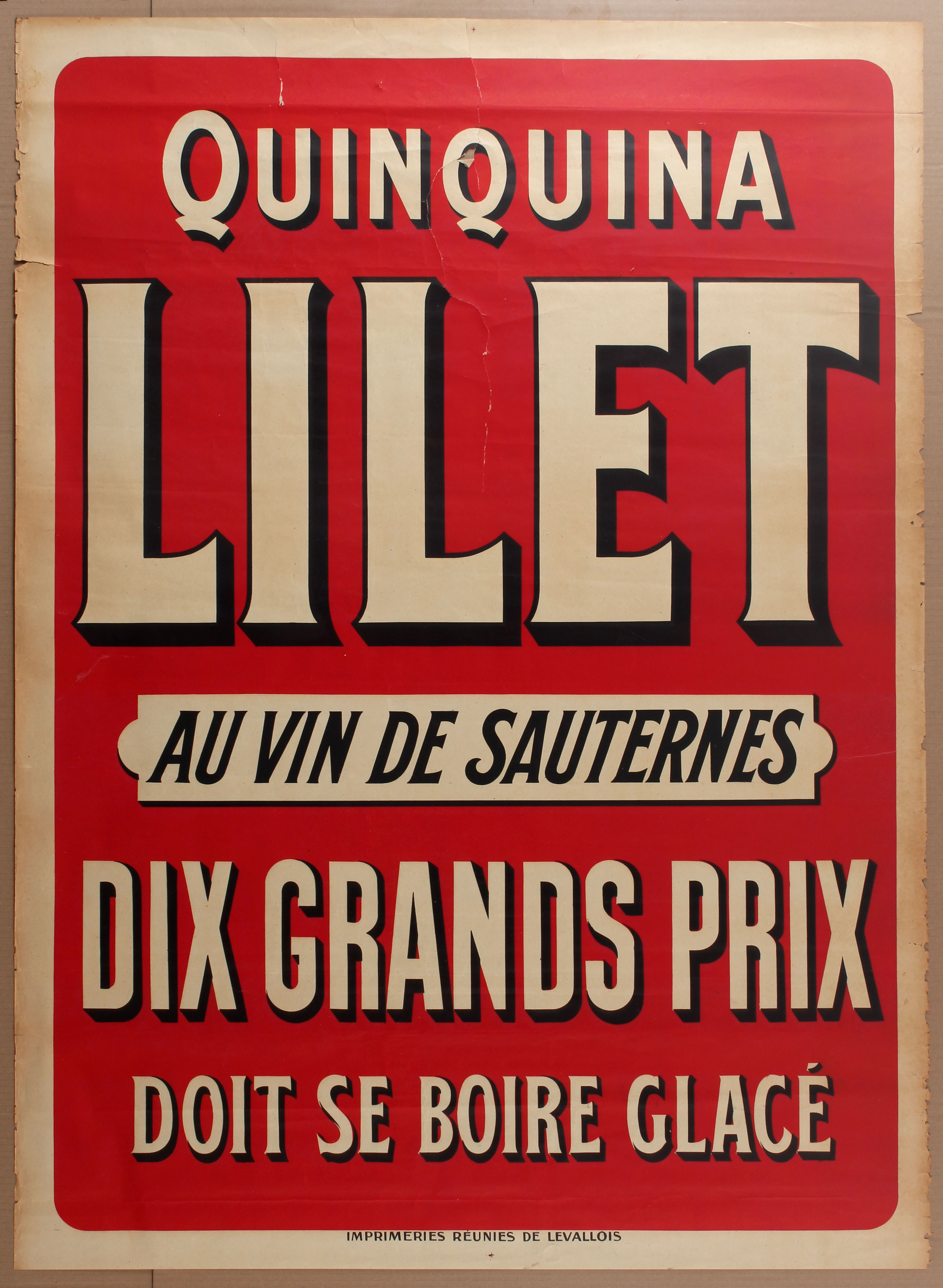 Lot 1013 - Advertising Poster Lilet Alcohol Drink