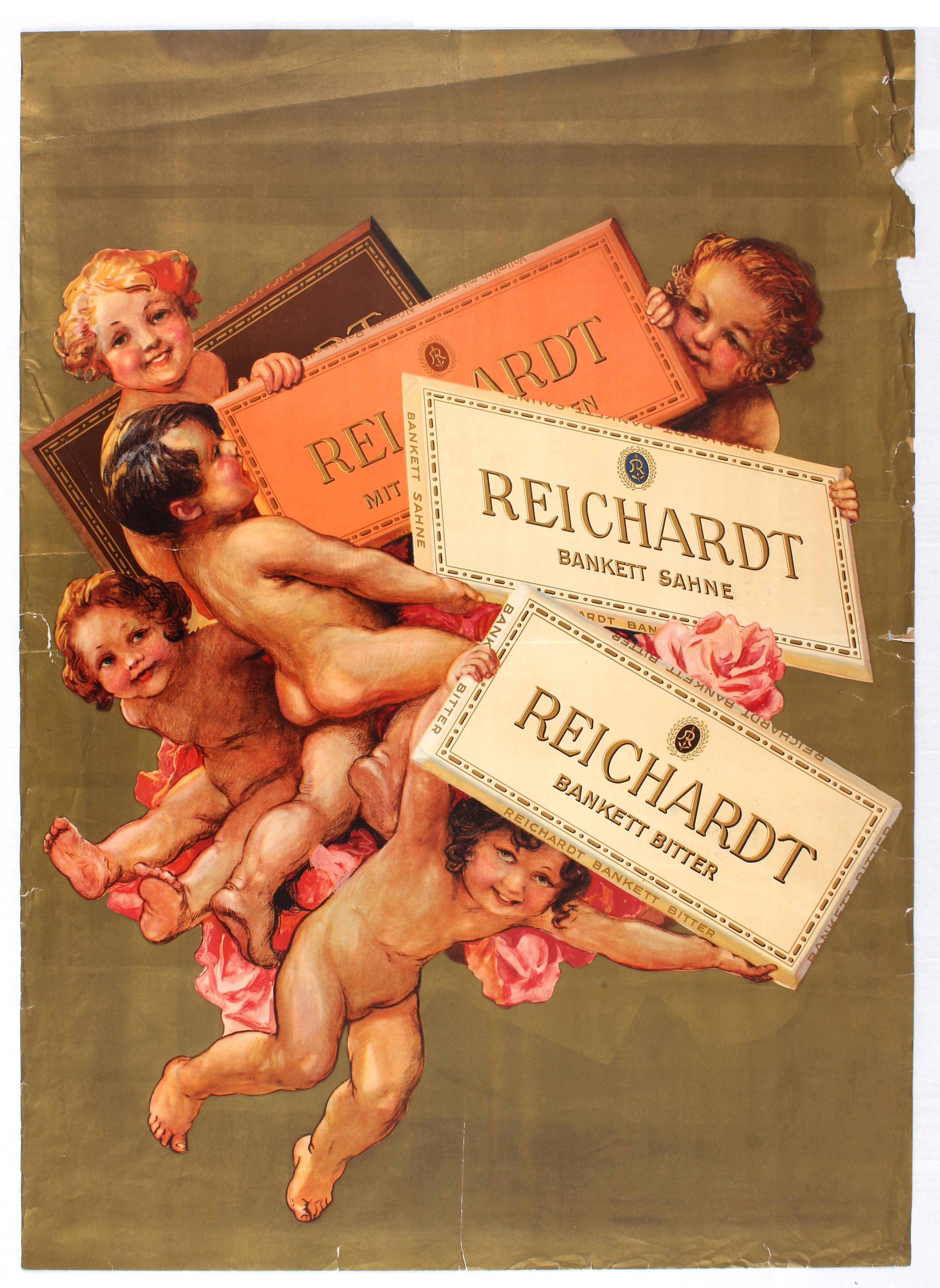 Lot 1009 - Advertising Poster Reichardt Chocolate Cupids