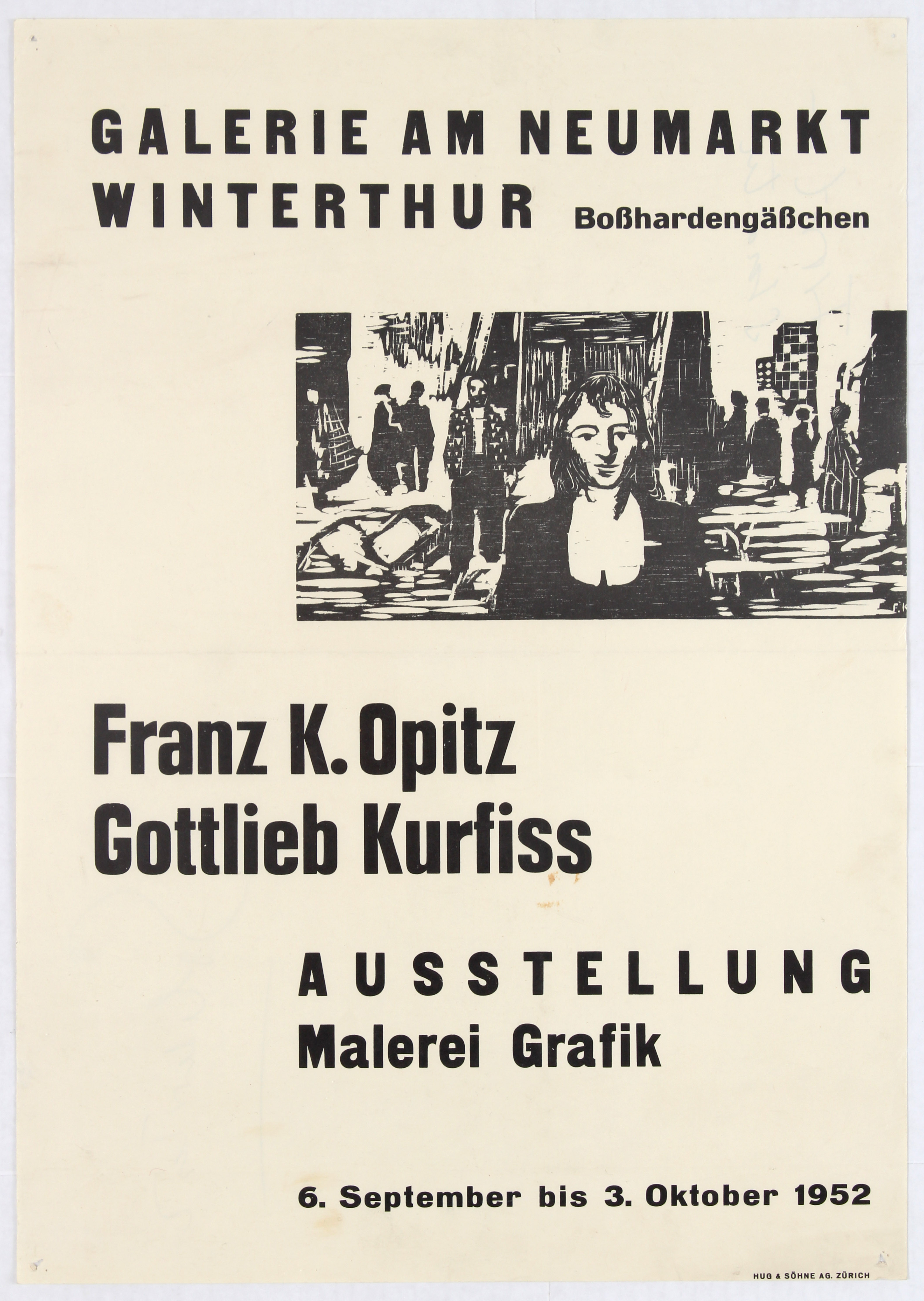Lot 1510 - Exhibition Advertising Poster Franz K. Opitz