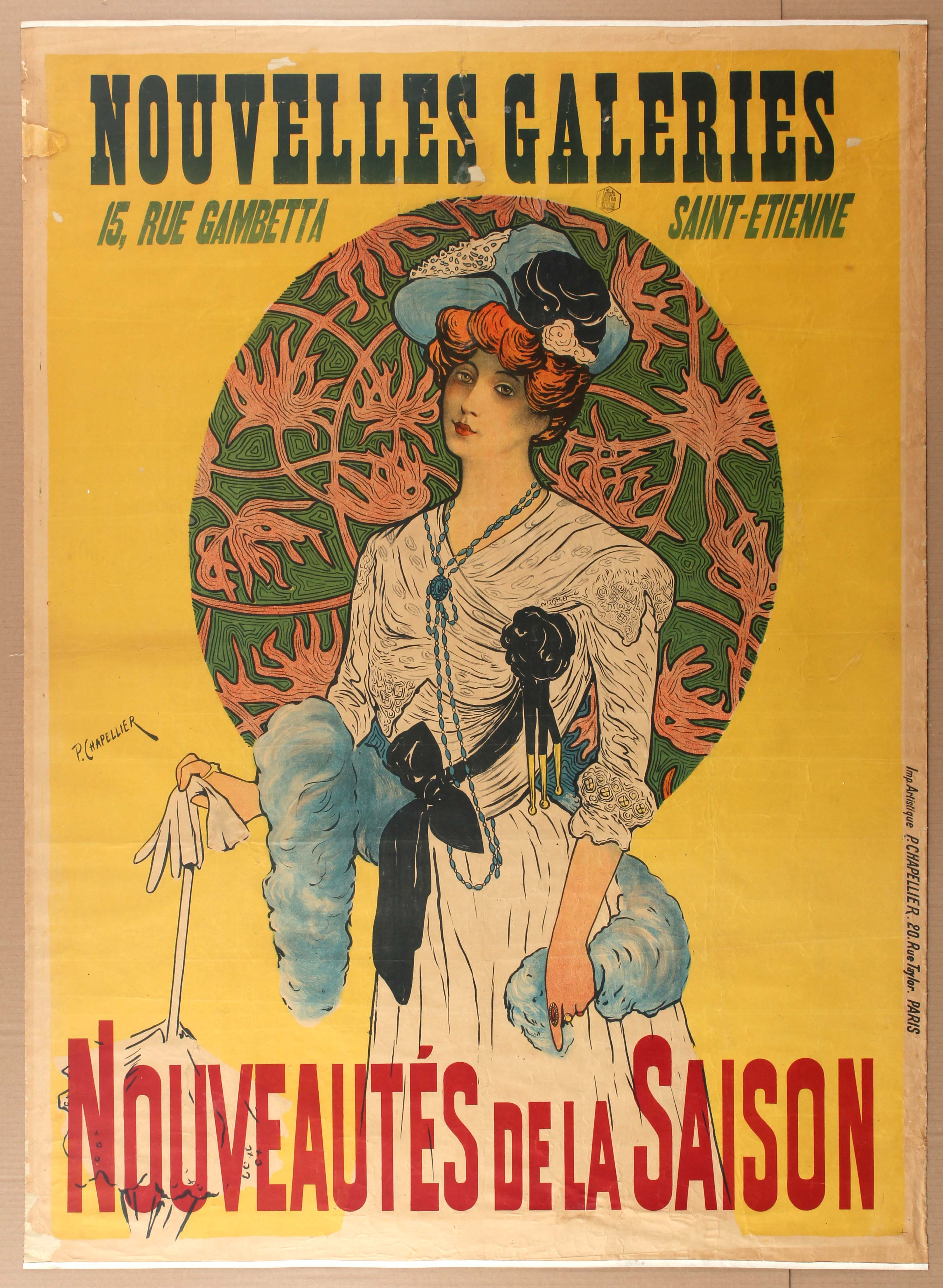 Lot 1017 - Advertising Poster Department France Belle Epoque