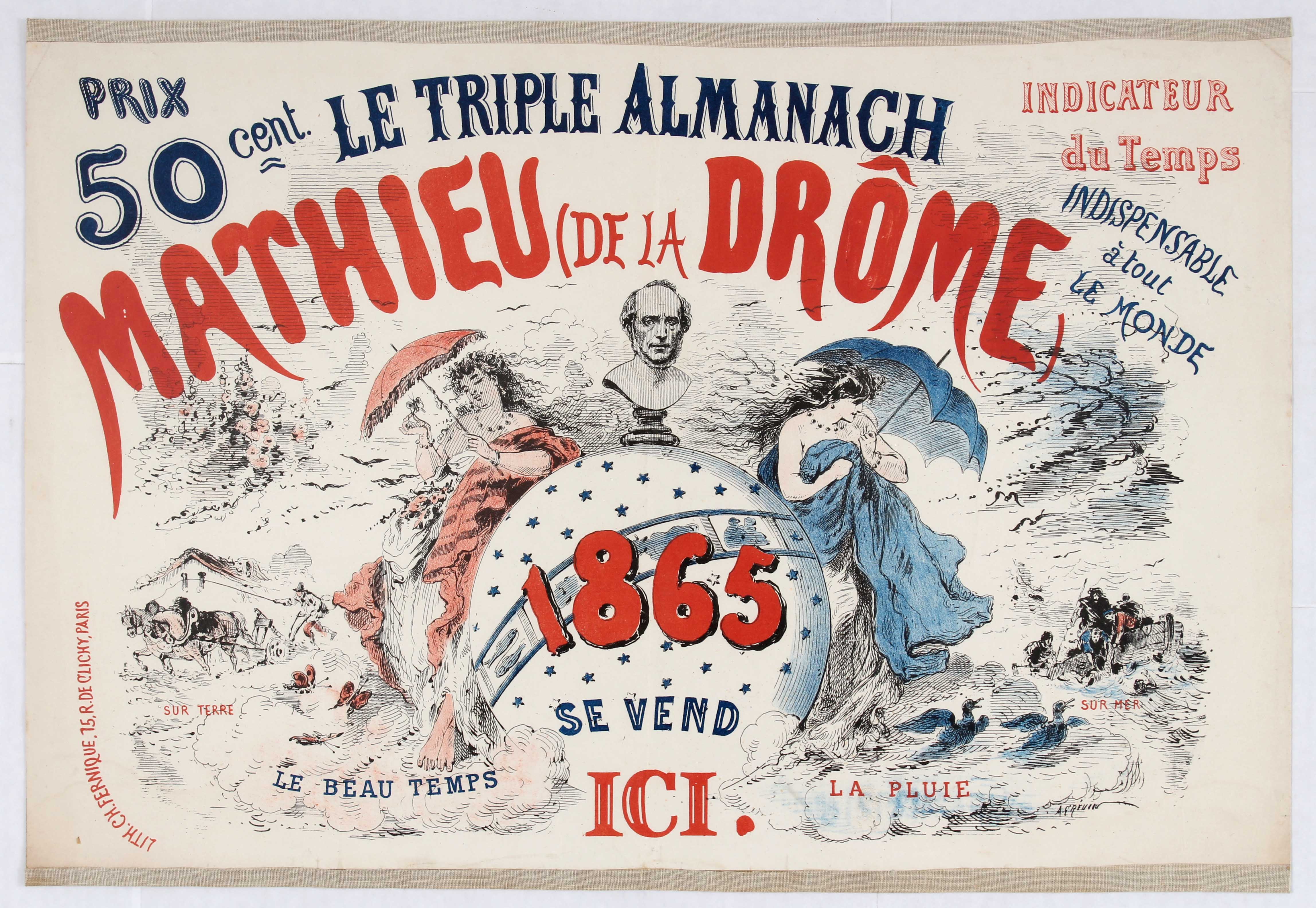 Lot 1002 - French Advertising Poster Triple Almanach