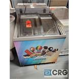 Portable 3 foot reach in ice cream freezer
